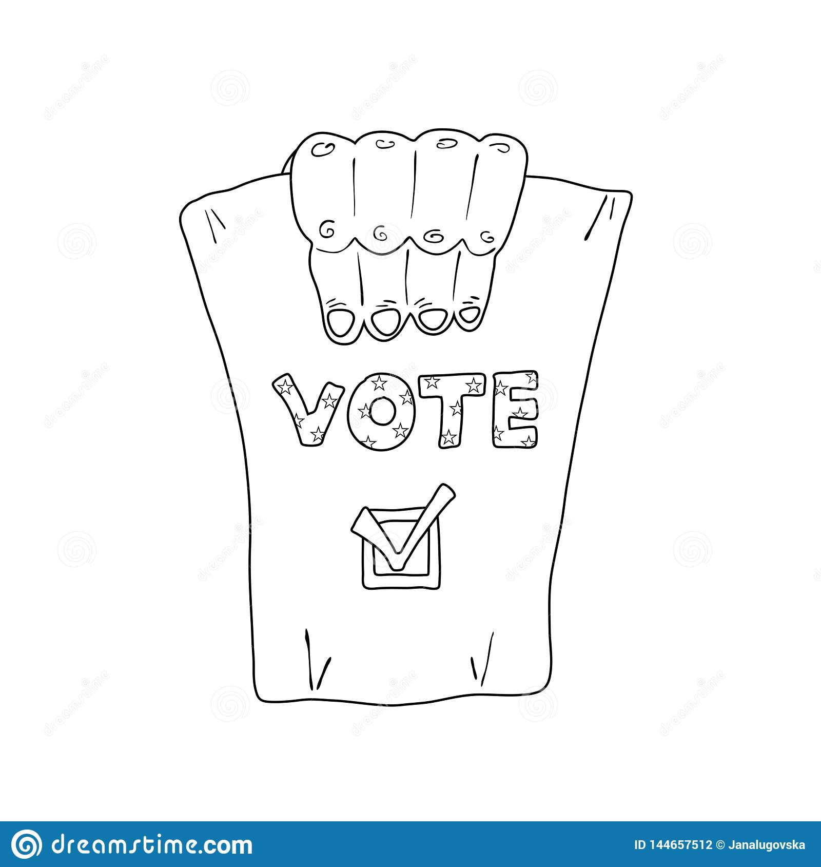 Illustrazione monocromatica circa le elezioni degli Stati Uniti
