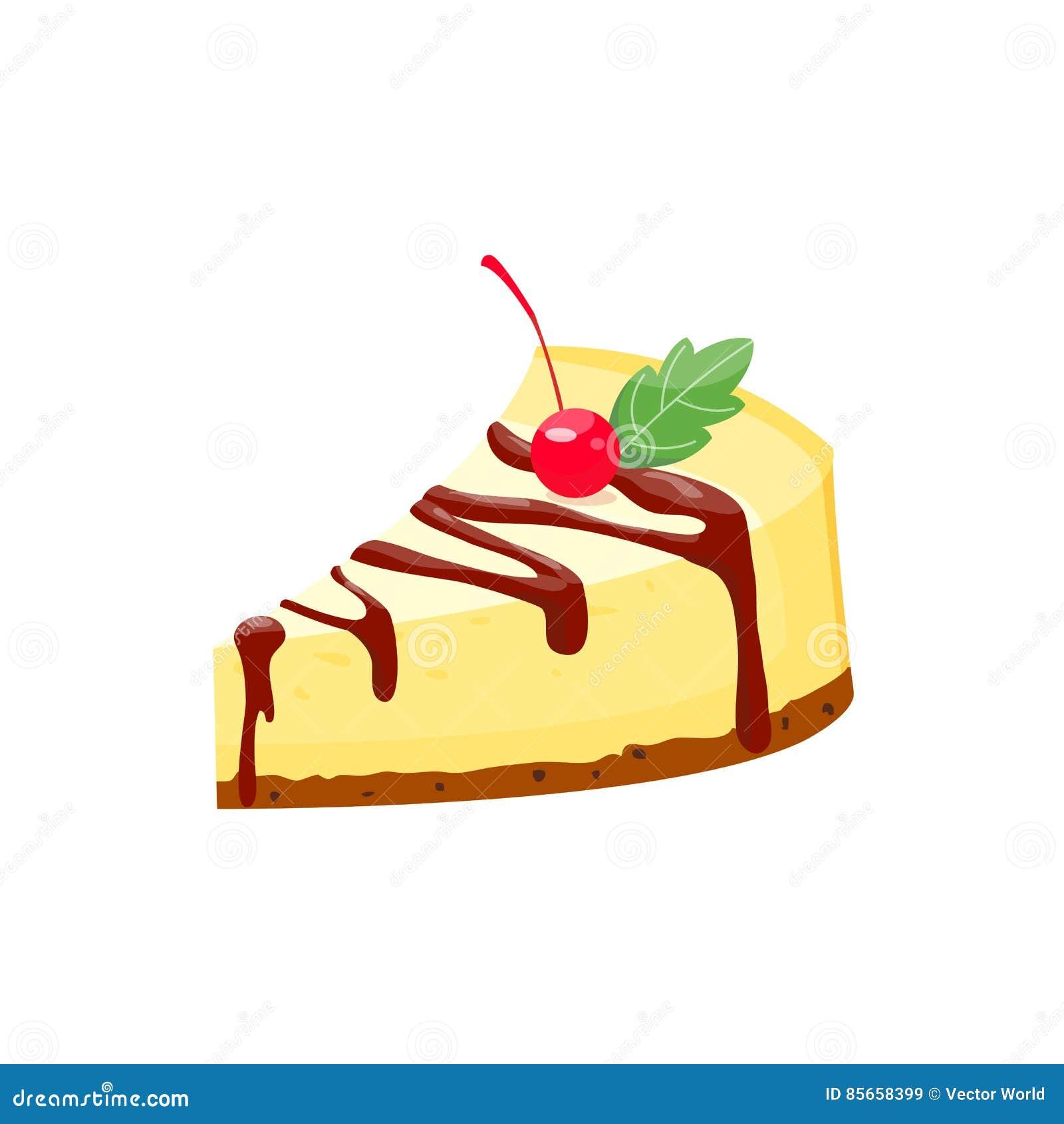 Illustrazione Organica Casalinga Di Vettore Del Dessert Della Fetta