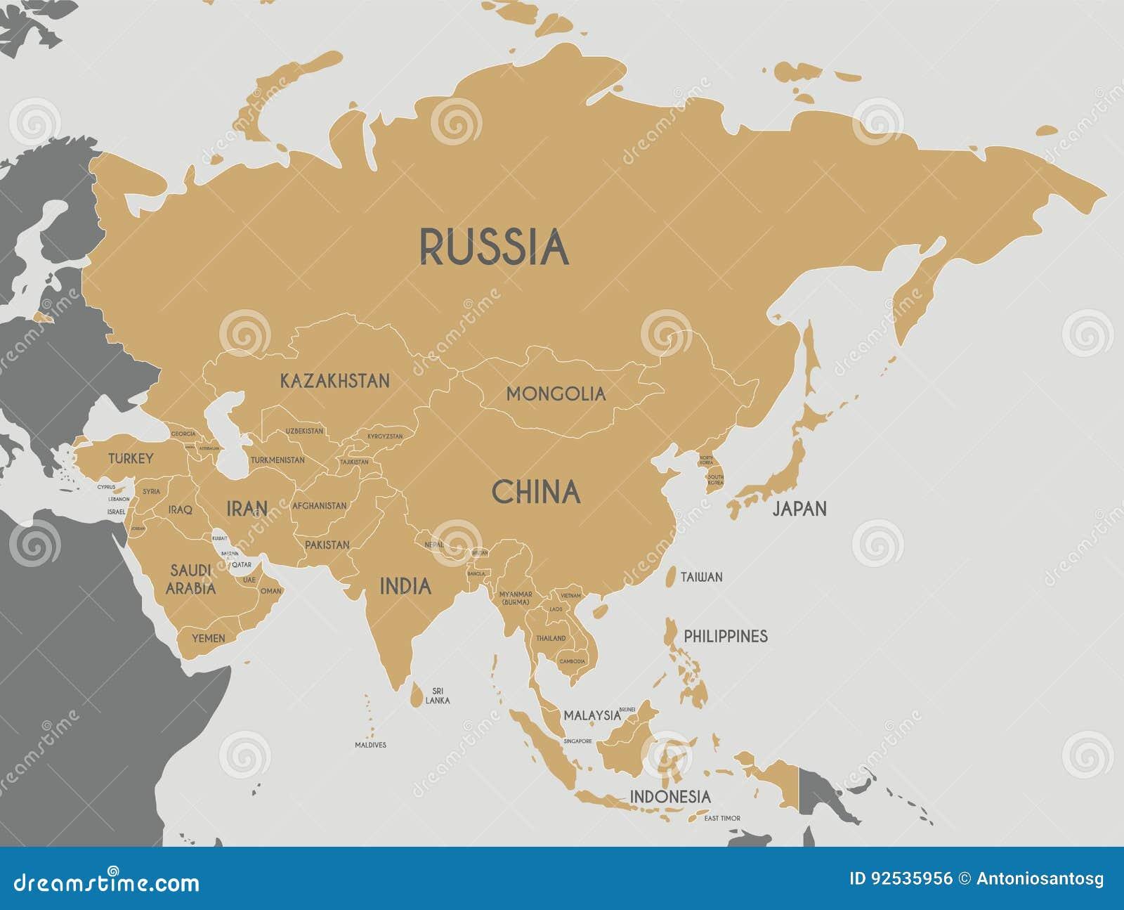 Cartina Mondo Editabile.Illustrazione Politica Di Vettore Della Mappa Dell Asia Editabile E Chiaramente Laboratorio Illustrazione Vettoriale Illustrazione Di Information Disegno 92535956