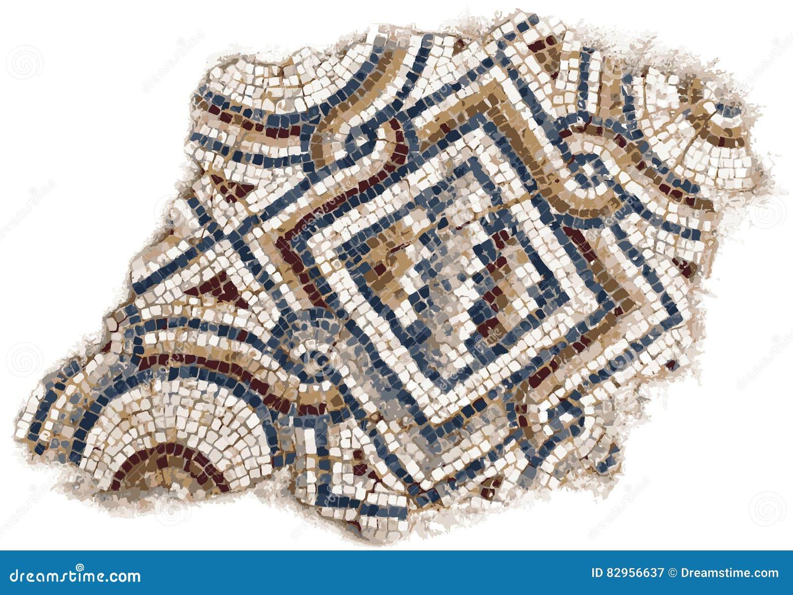 Illustrazione romana dei mosaici