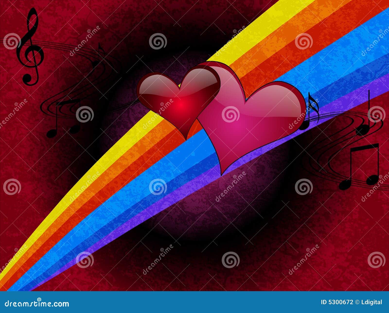 Download Illustrazione Romantica Di Vettore Di Musica Illustrazione di Stock - Illustrazione di sposato, amore: 5300672