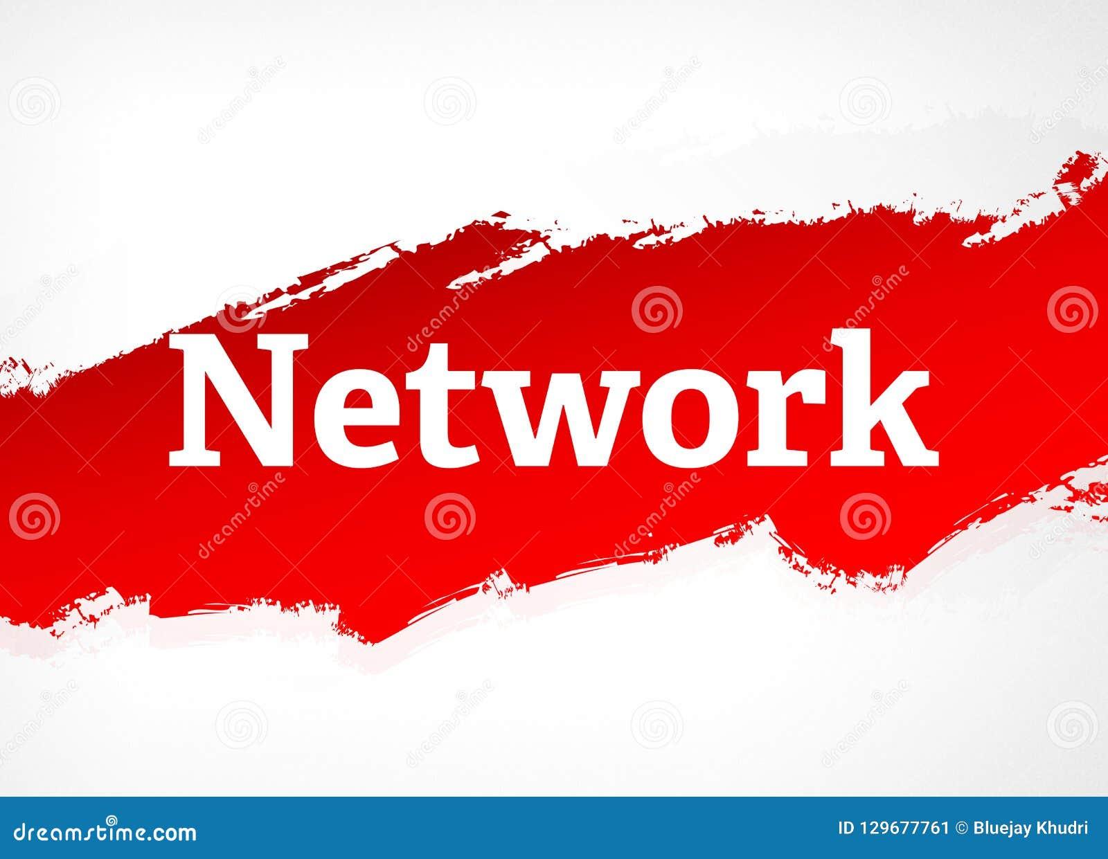Illustrazione rossa del fondo dell estratto della spazzola della rete