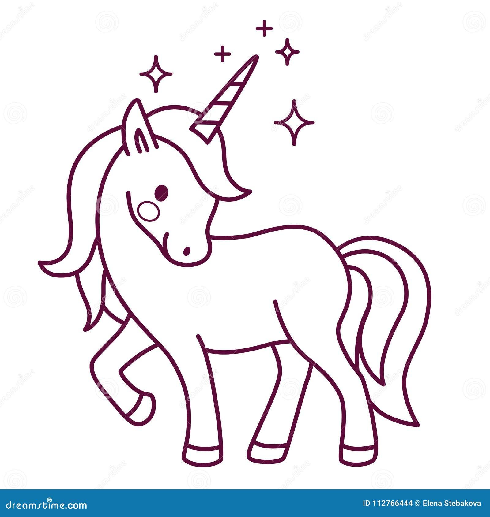 Unicorni Kawaii Da Colorare Per Fantasia Gratis Per Unicorno Kawaii
