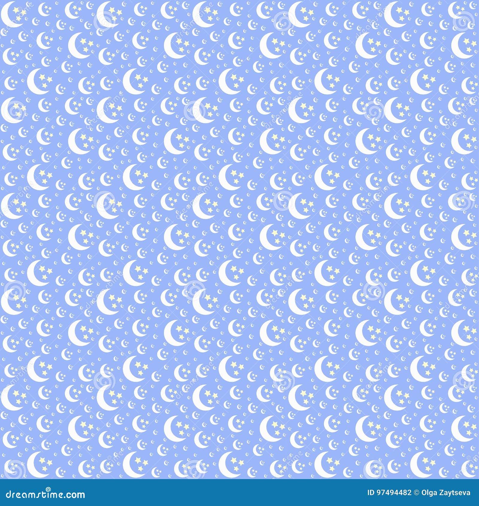 Illustrazione senza cuciture del modello della luna