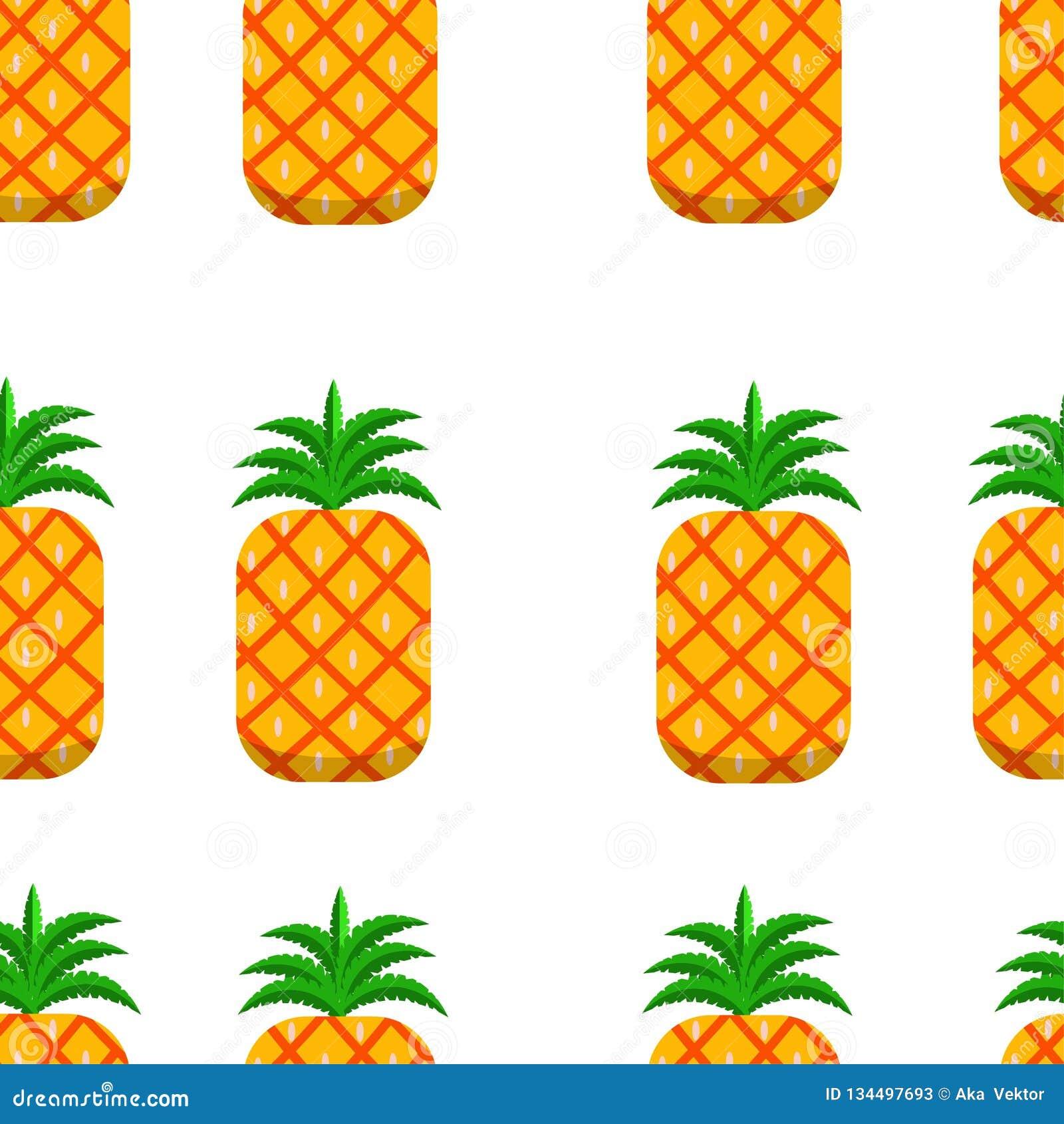 Illustrazione senza cuciture di vettore del fondo dell ananas del modello