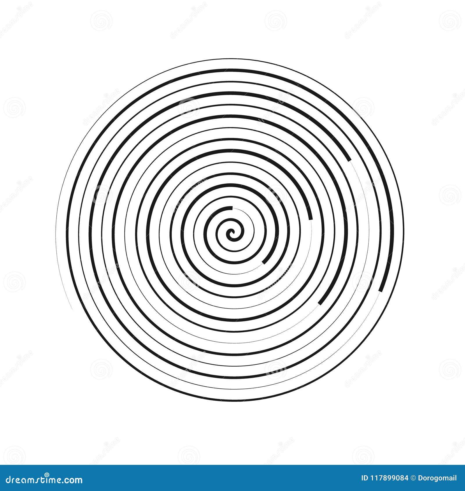Illustrazione a spirale di vettore dell elemento Circonda l elemento geometrico Ambiti di provenienza concentrici