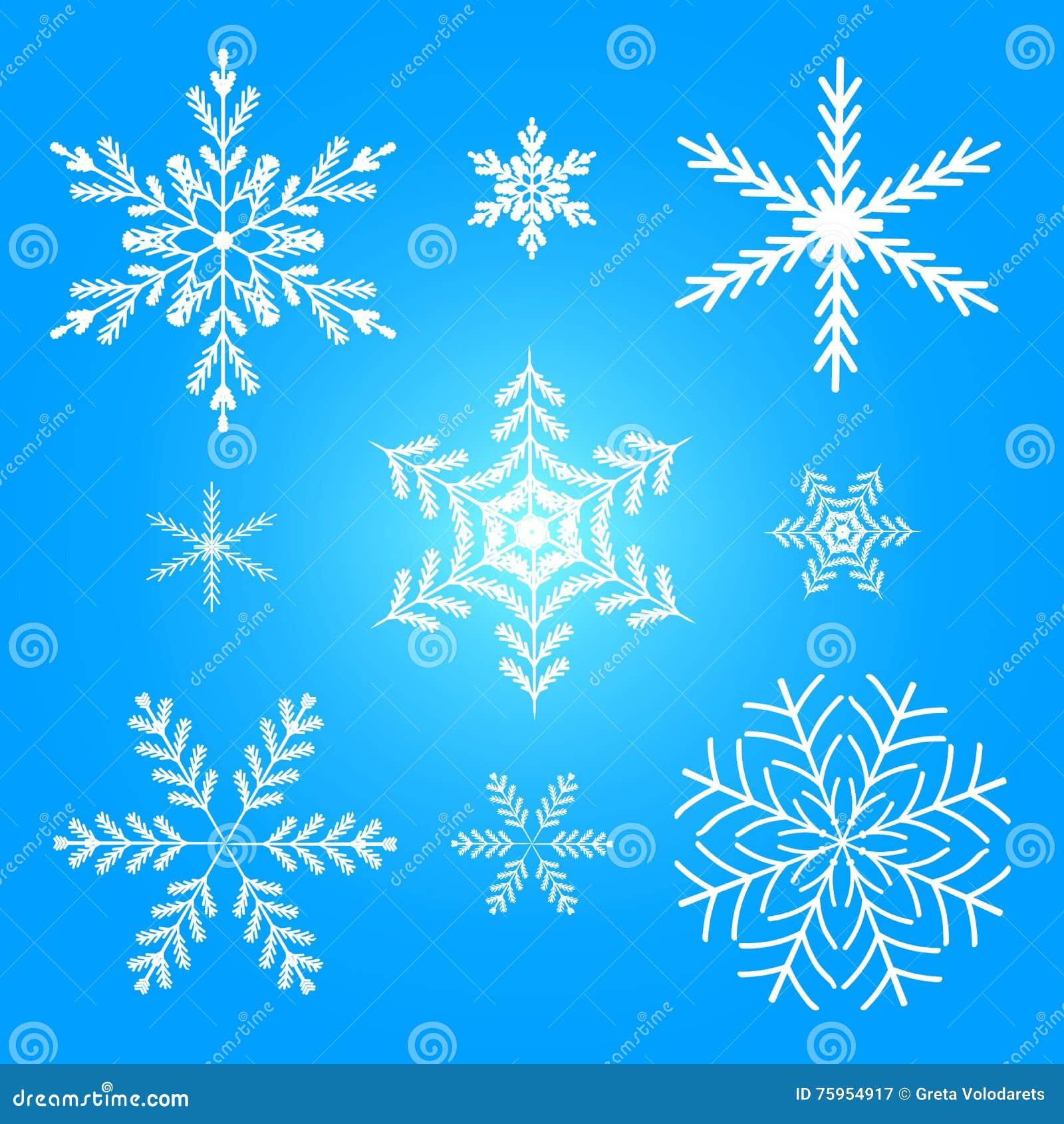 Illustrazione stabilita di vettore di inverno del fiocco di neve