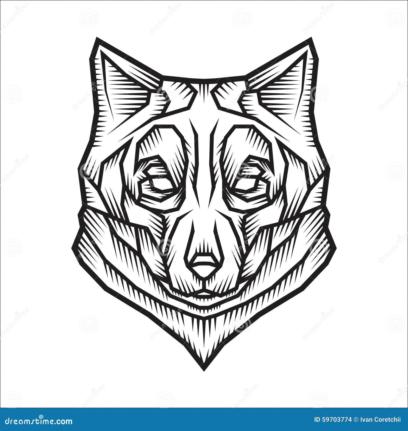Illustrazione stilizzata del lupo illustrazione vettoriale - Lupo mannaro immagini da colorare ...