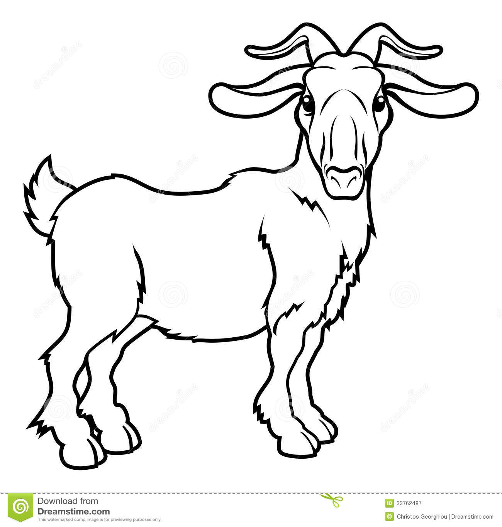 Illustrazione stilizzata della capra illustrazione - Immagini da colorare capra ...