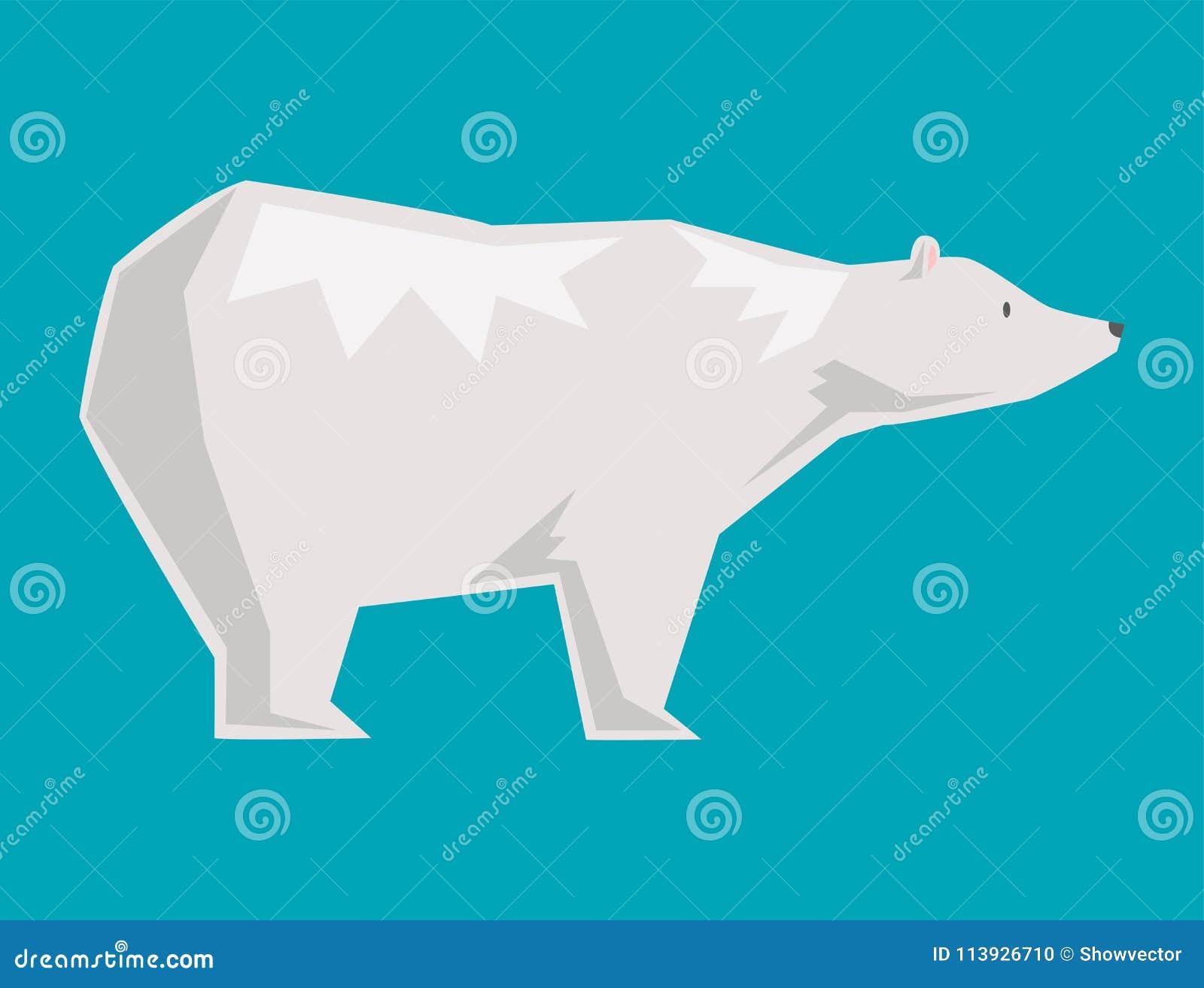 Illustrazione Sveglia Predatore Del Carattere Dell'orso