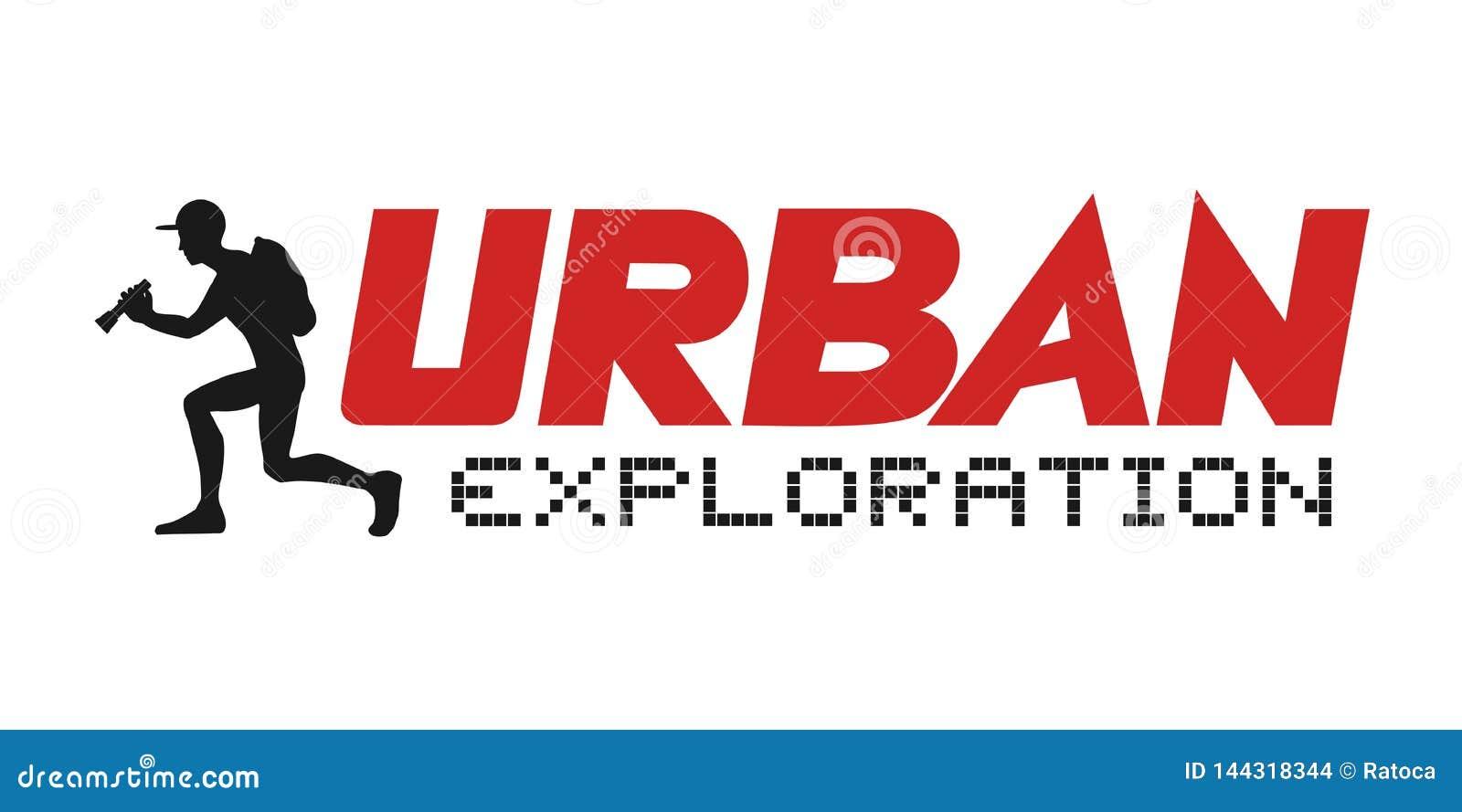 Illustrazione urbana di esplorazione