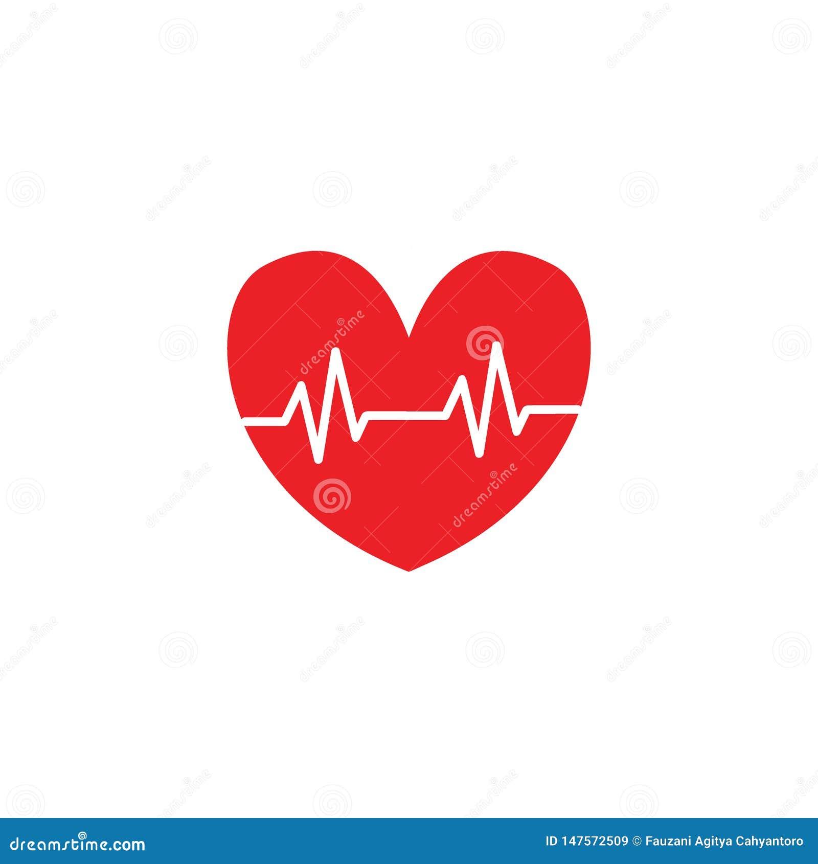 Illustrazioni dell icona di amore del battito cardiaco