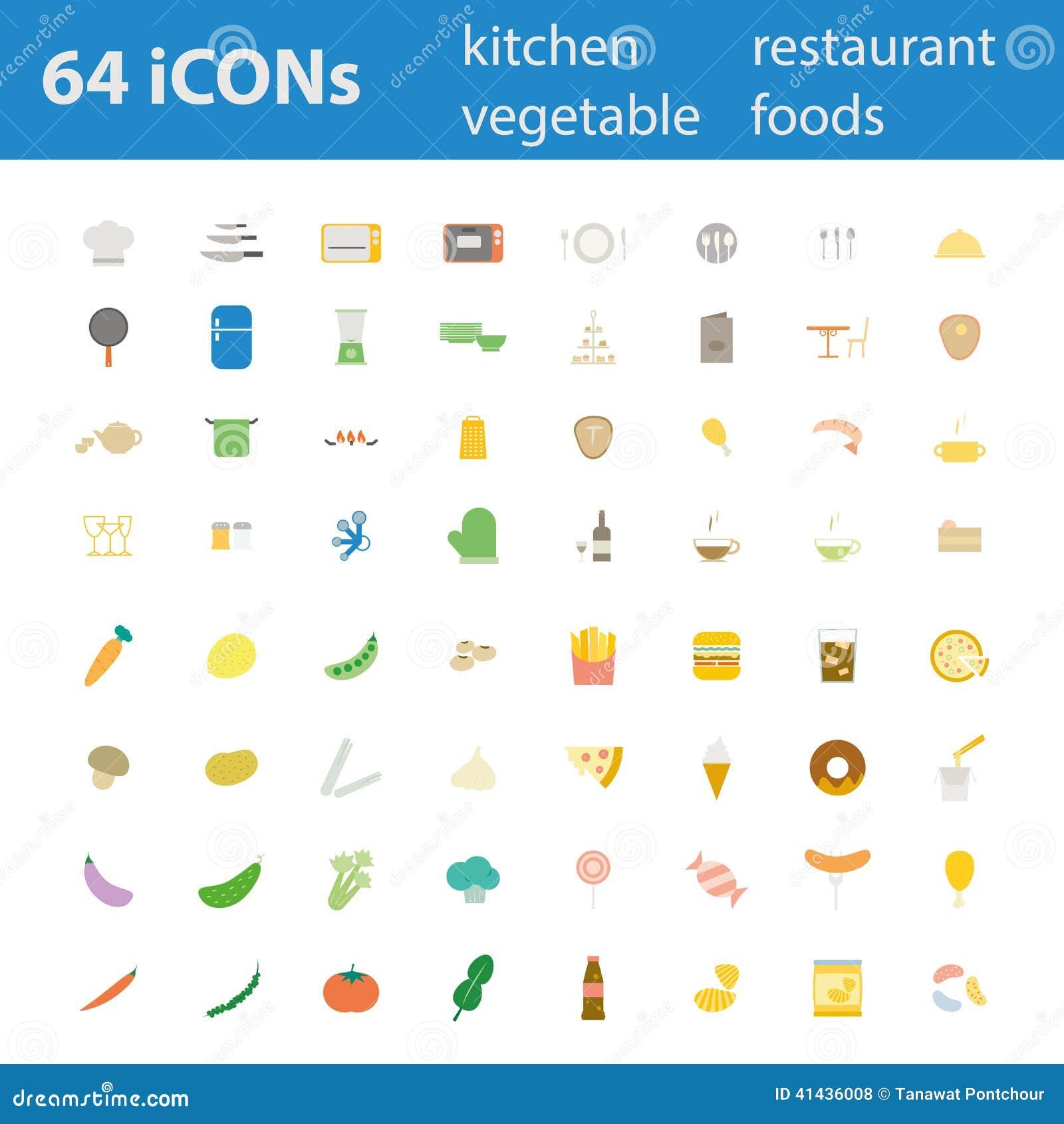 64 ilość projekta nowożytnej wektorowej ilustracyjnej ikony ustawiającej
