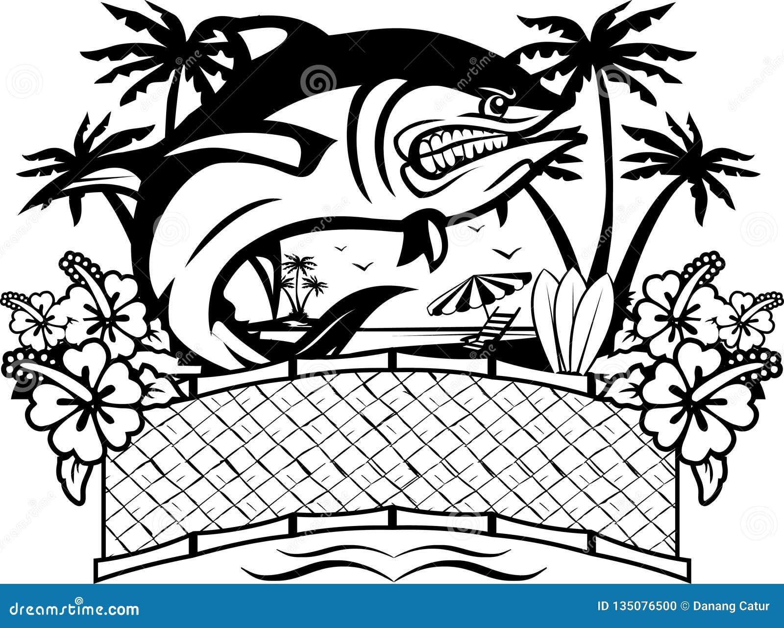 Ilsken fisk med tropisk bakgrund