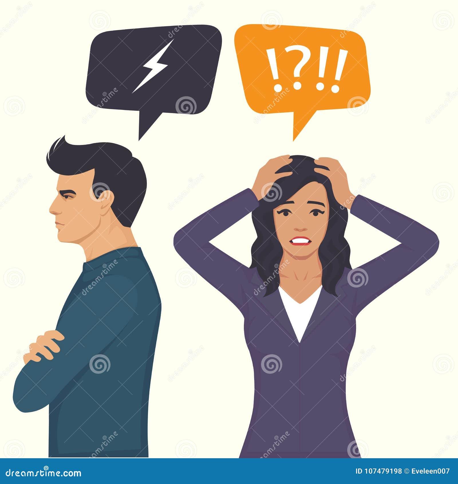 Ilskna par slåss, föräldrar skilsmässa, mannen och det kvinnakonflikt-, fru- och makeförhållandet,