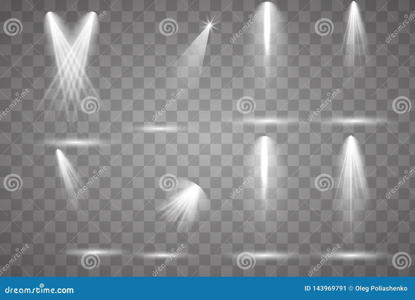 Iluminação brilhante com projetores