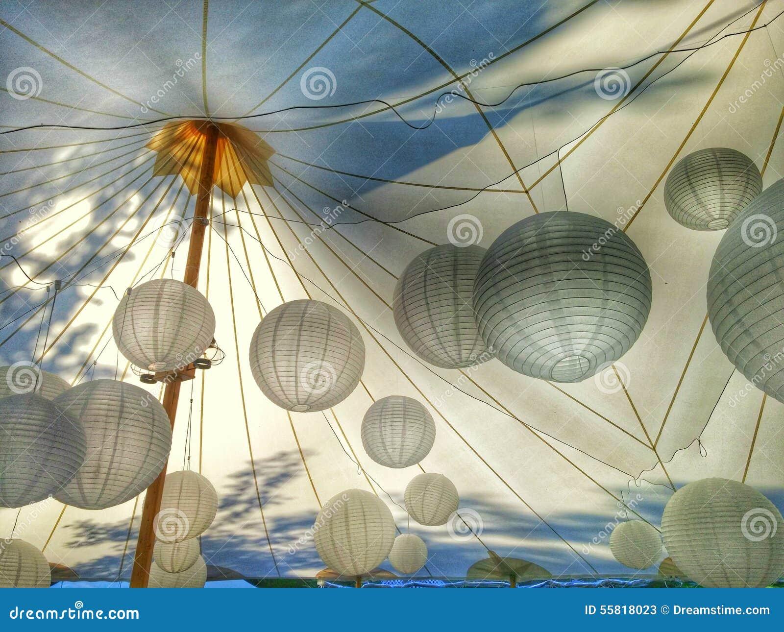 Iluminação da esfera da barraca