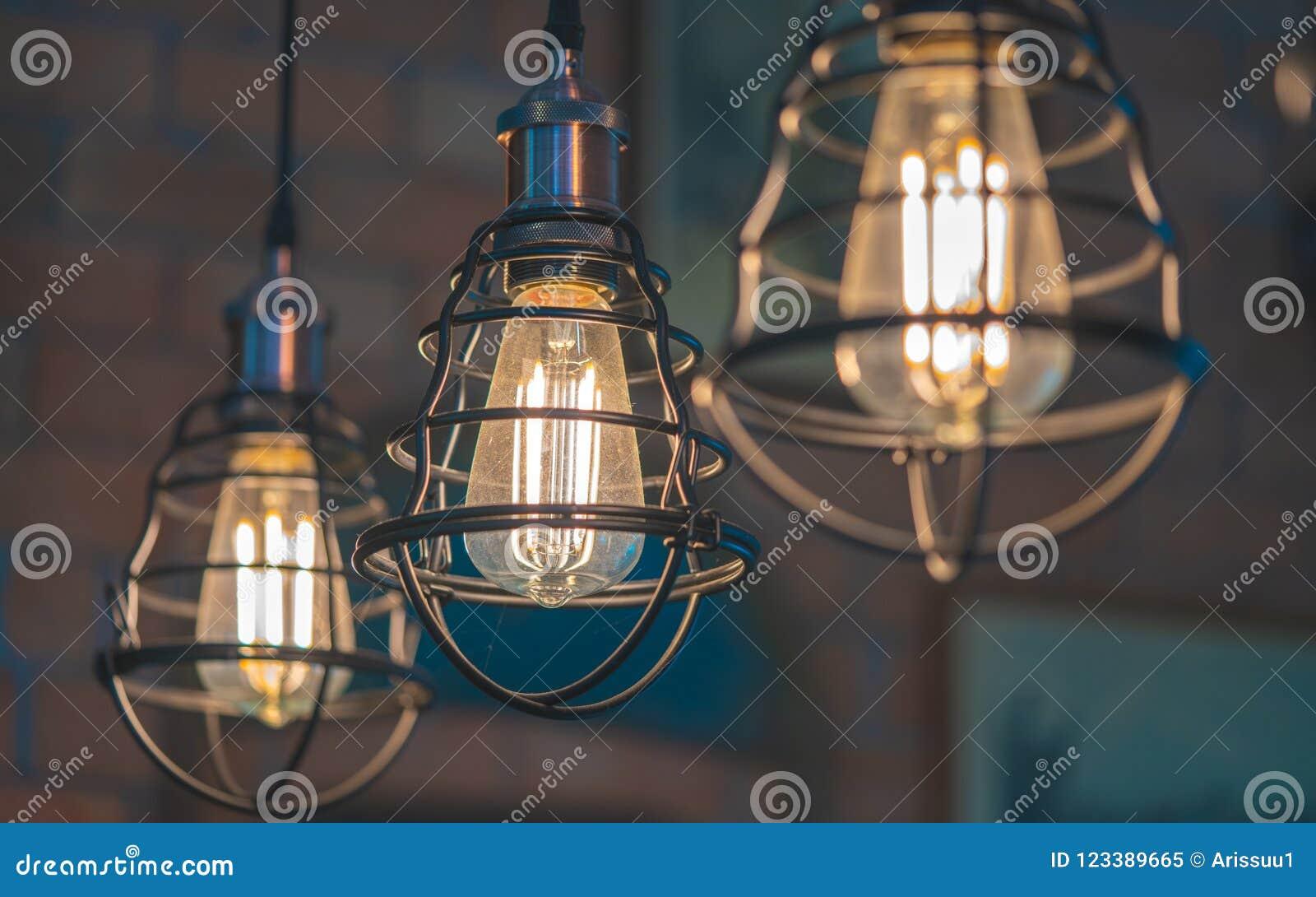 Iluminação da gaiola do metal do teto do vintage