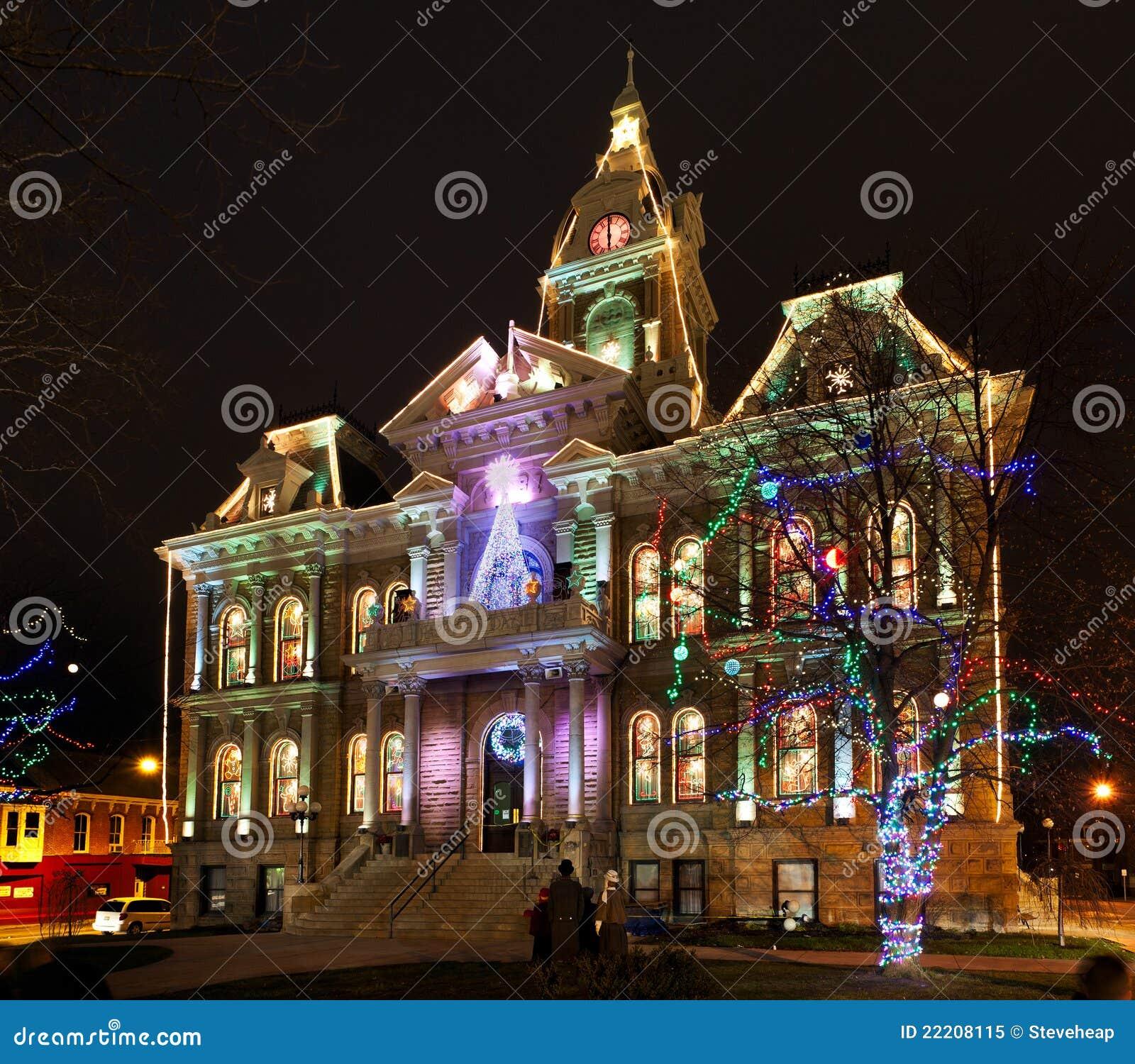 Iluminação do Natal de Cambridge Ohio