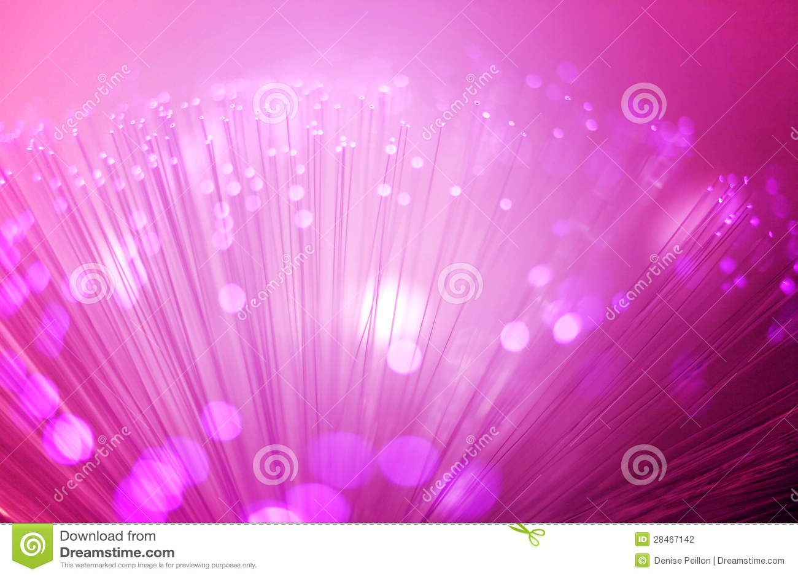 Iluminação roxa da fibra óptica