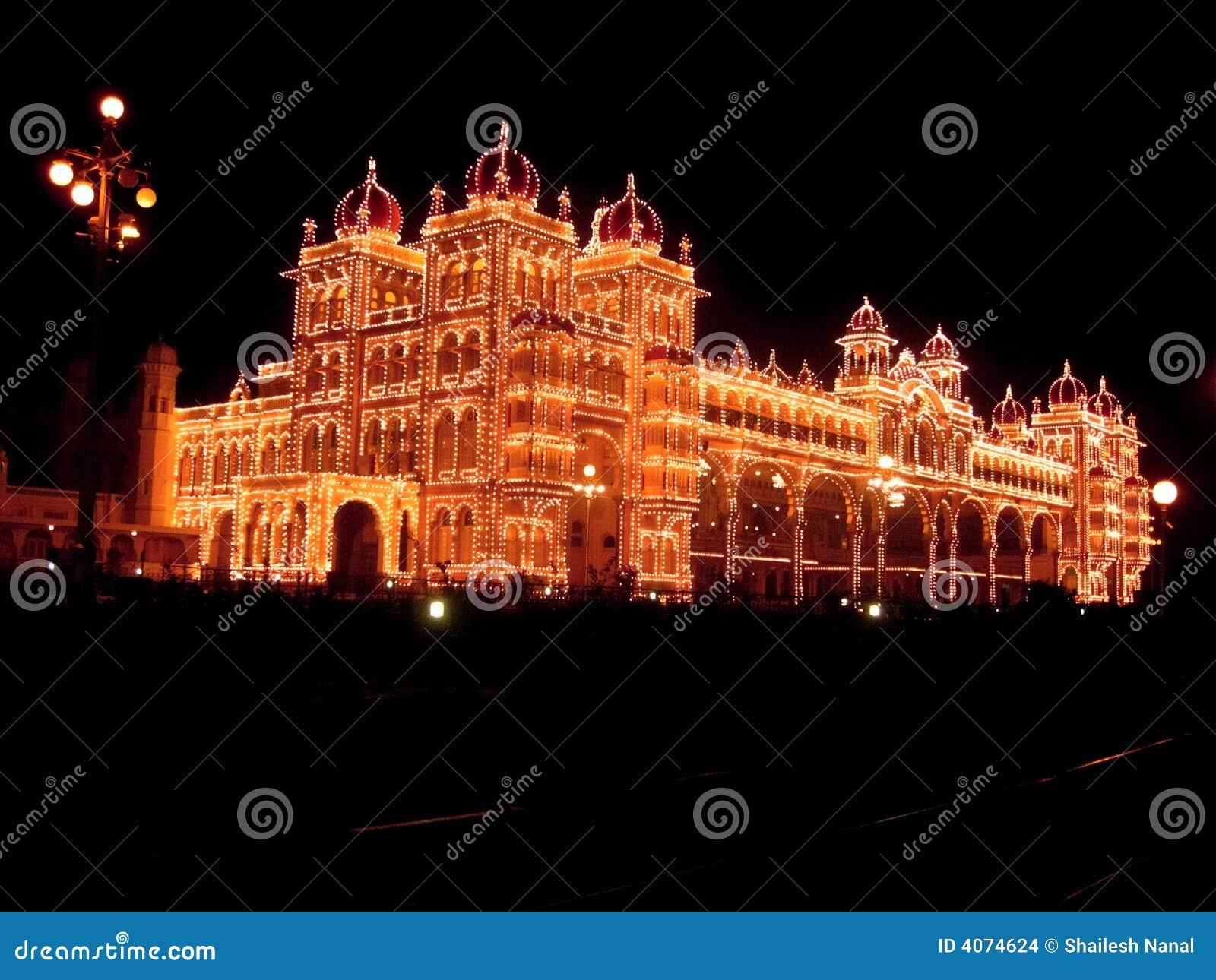 Iluminação-XXXV do palácio de Mysore
