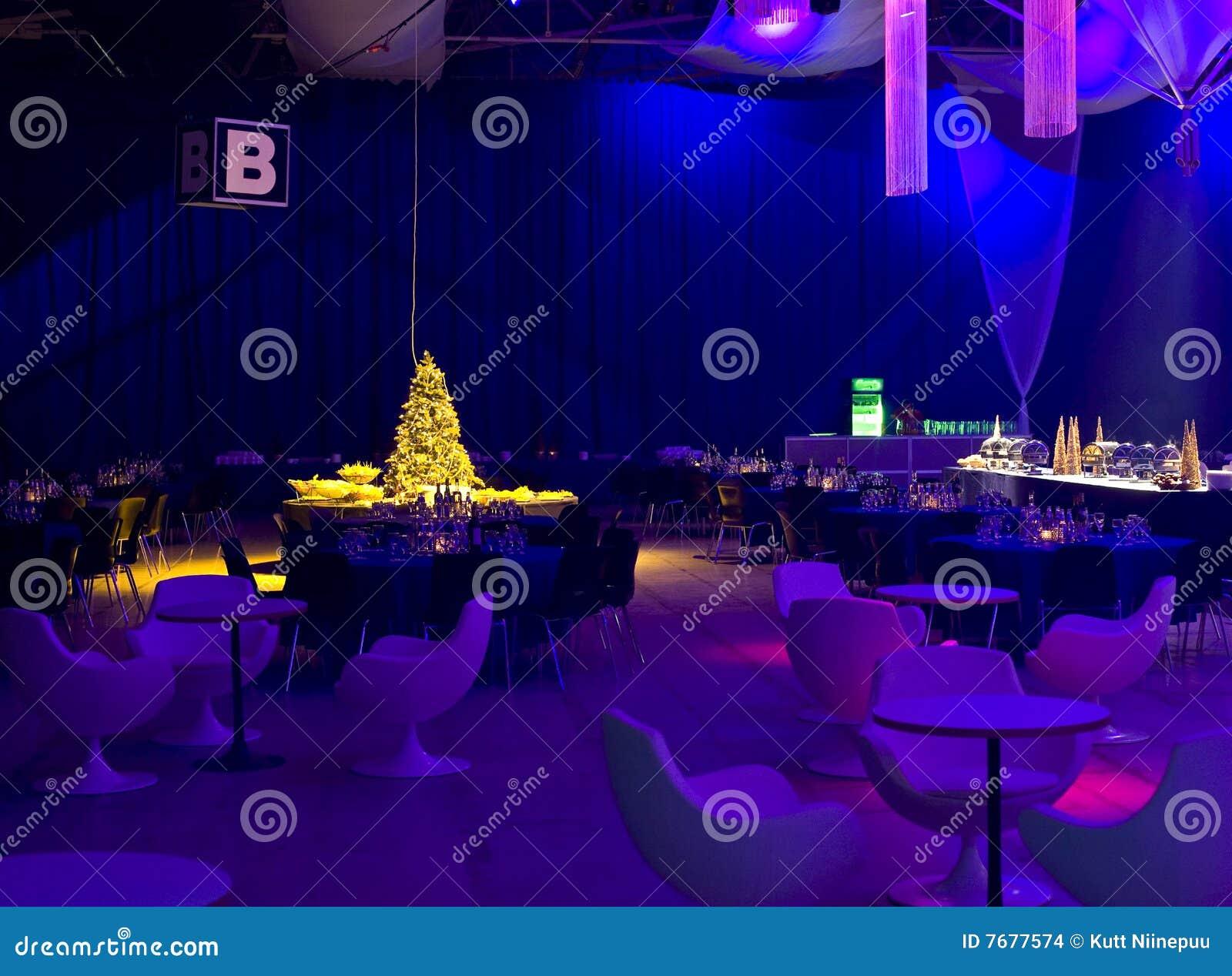Iluminación azul del partido