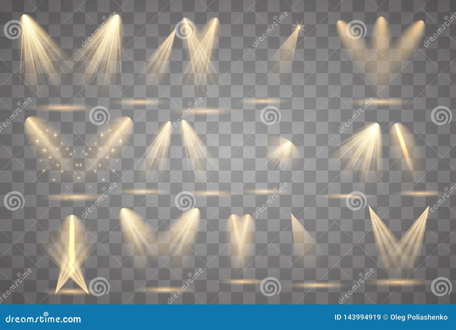 Iluminaci?n brillante con los proyectores