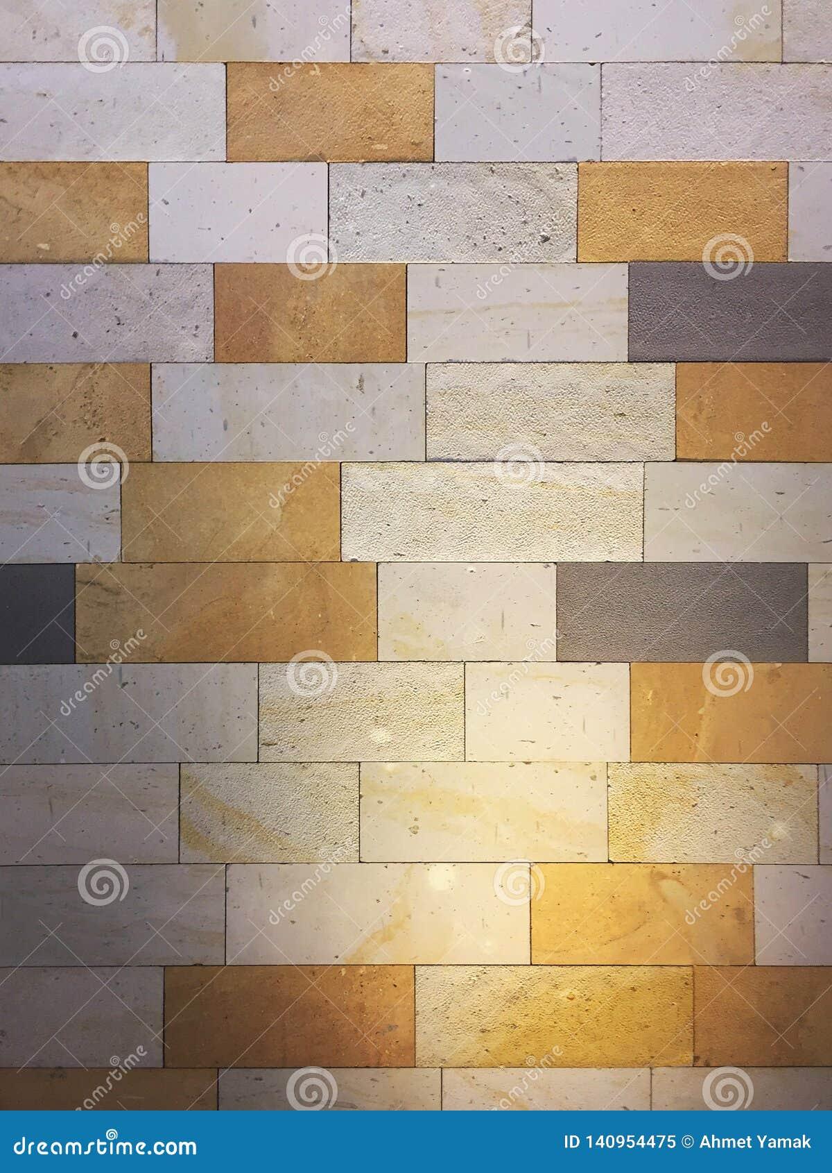 Iluminujący wielo- barwiony kafelkowy ścienny tło