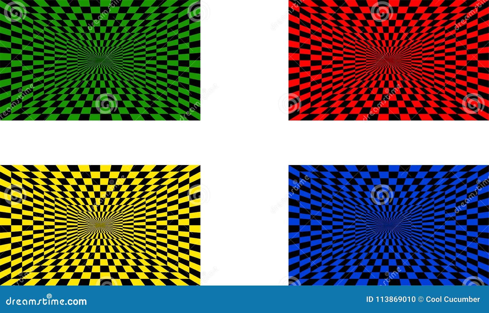 Ilusões óticas ajustadas de quatro