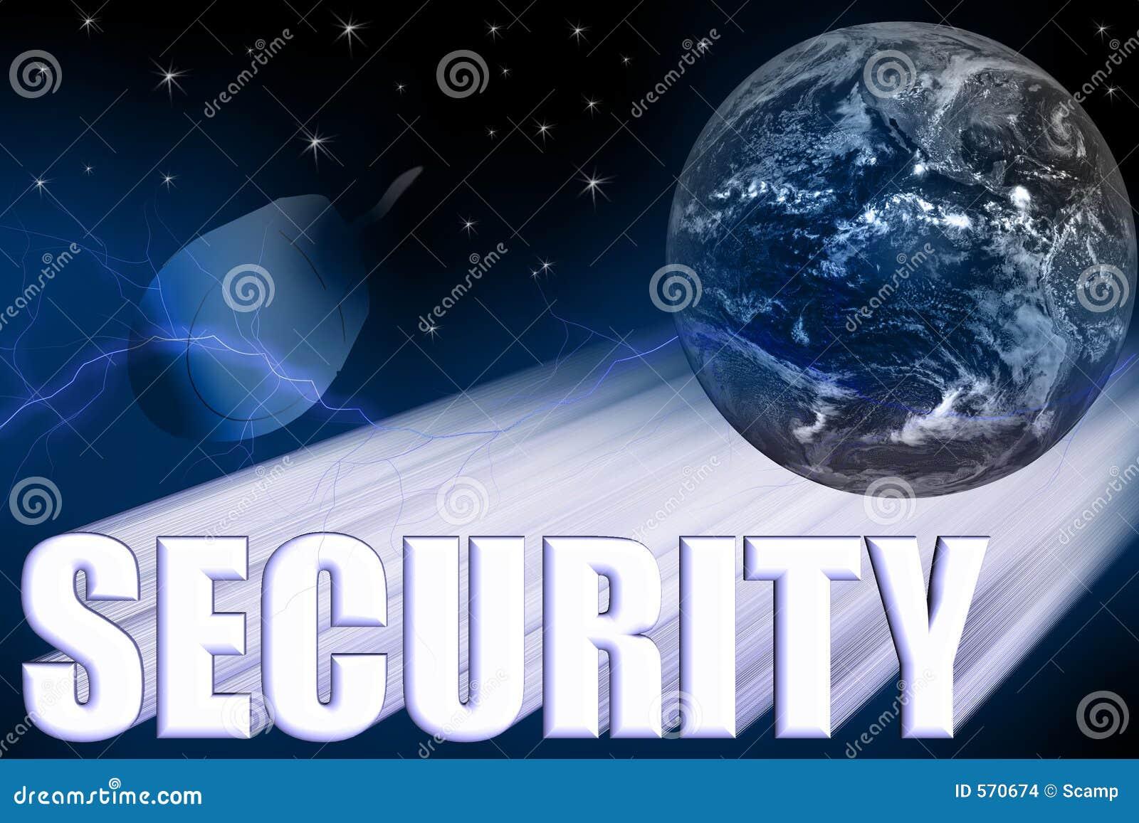 Ilustração 3-D da segurança