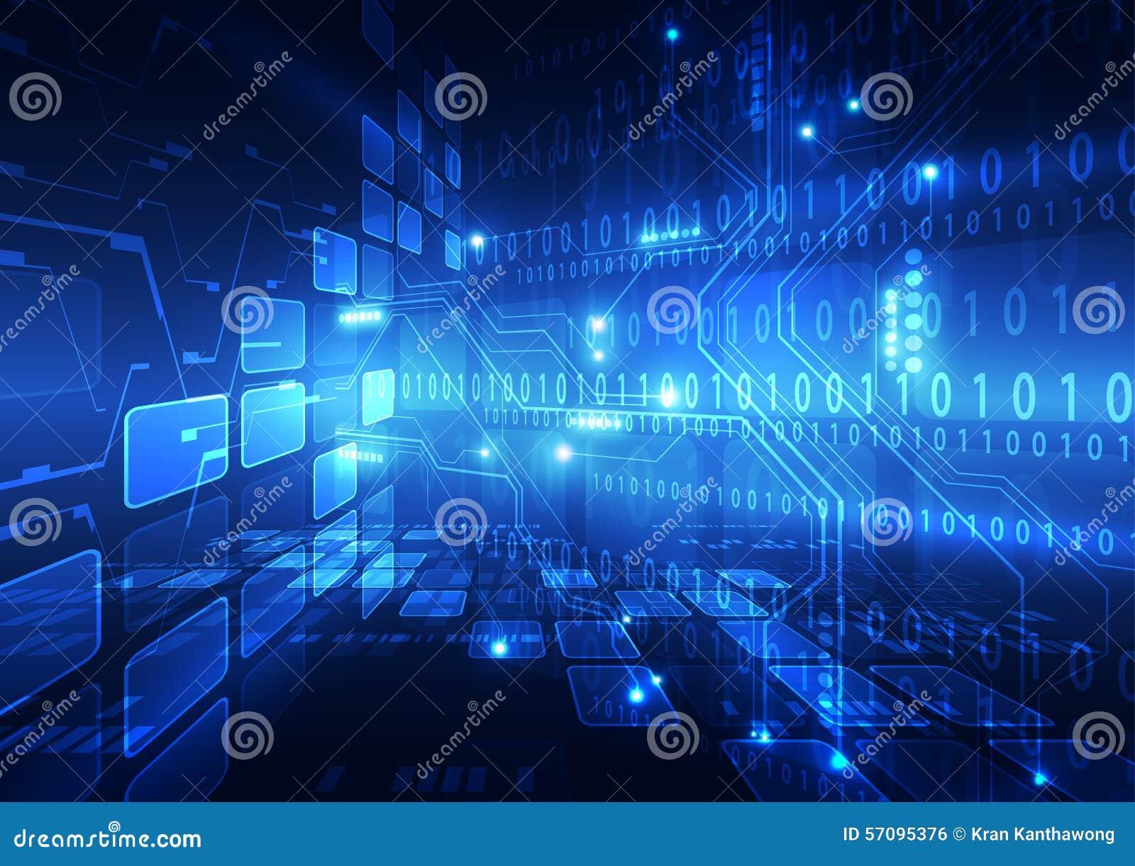 Ilustração abstrata do fundo da tecnologia do Internet da velocidade do vetor olá!