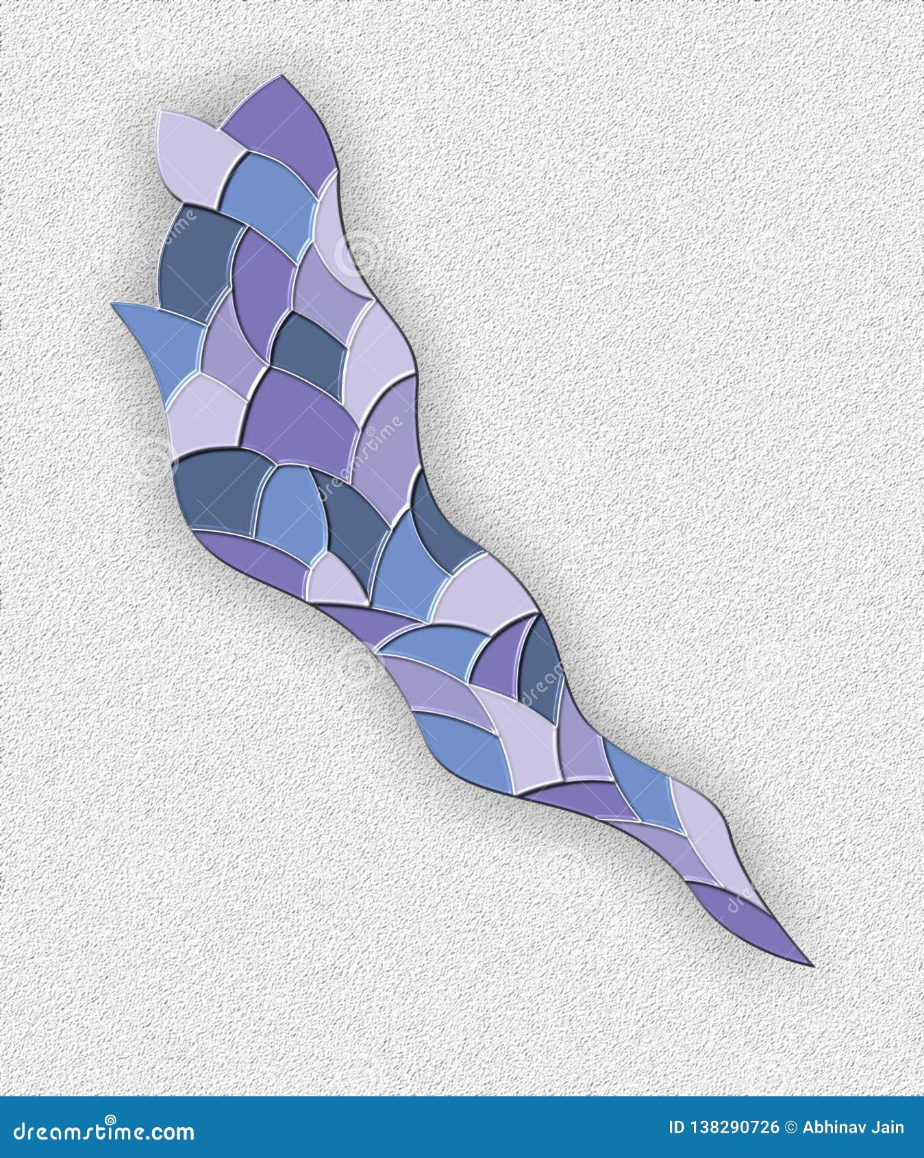 Ilustração abstrata textured azul do vetor da pele animal do tom