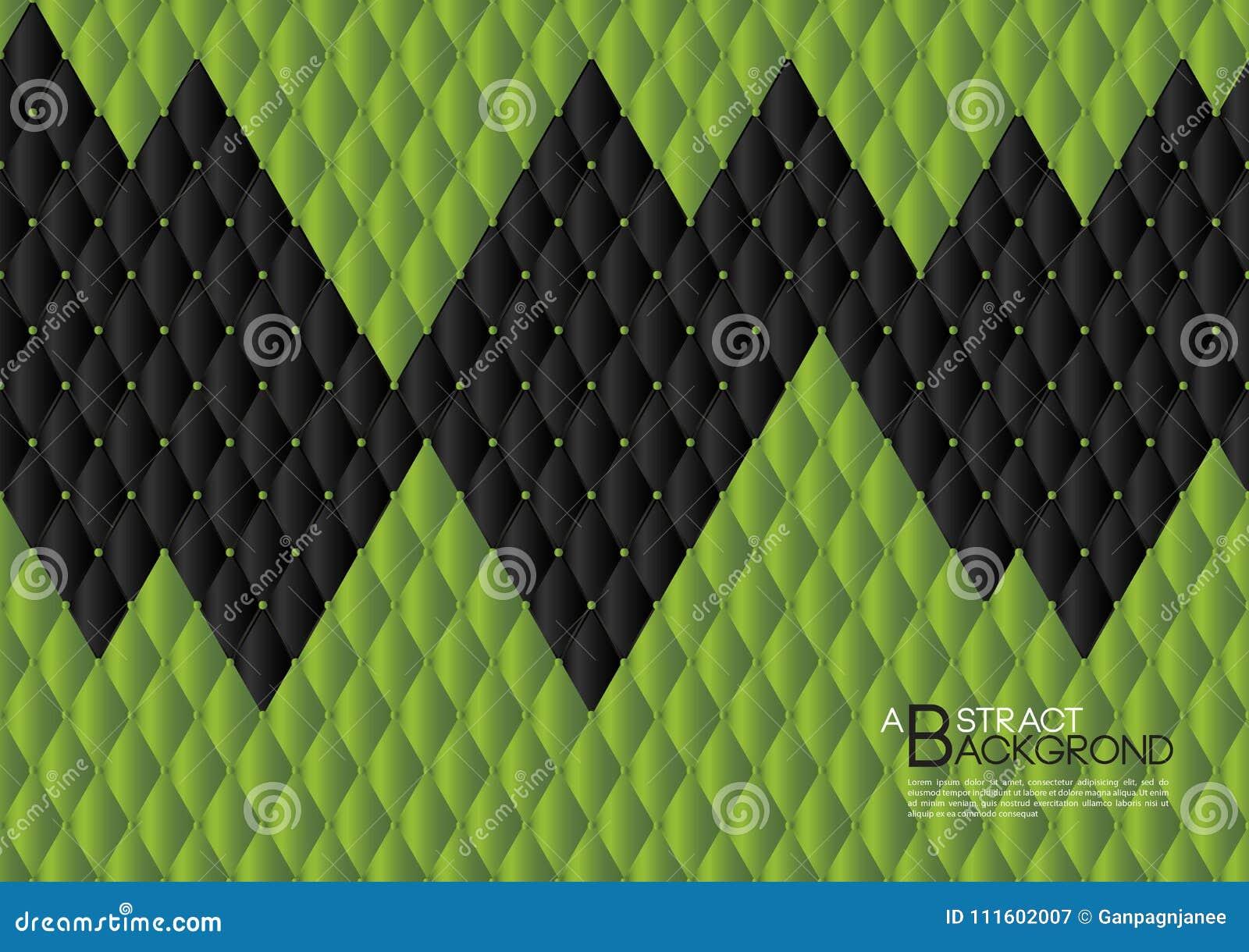 Ilustração abstrata verde do vetor do fundo, disposição do molde de tampa, inseto do negócio, textura de couro