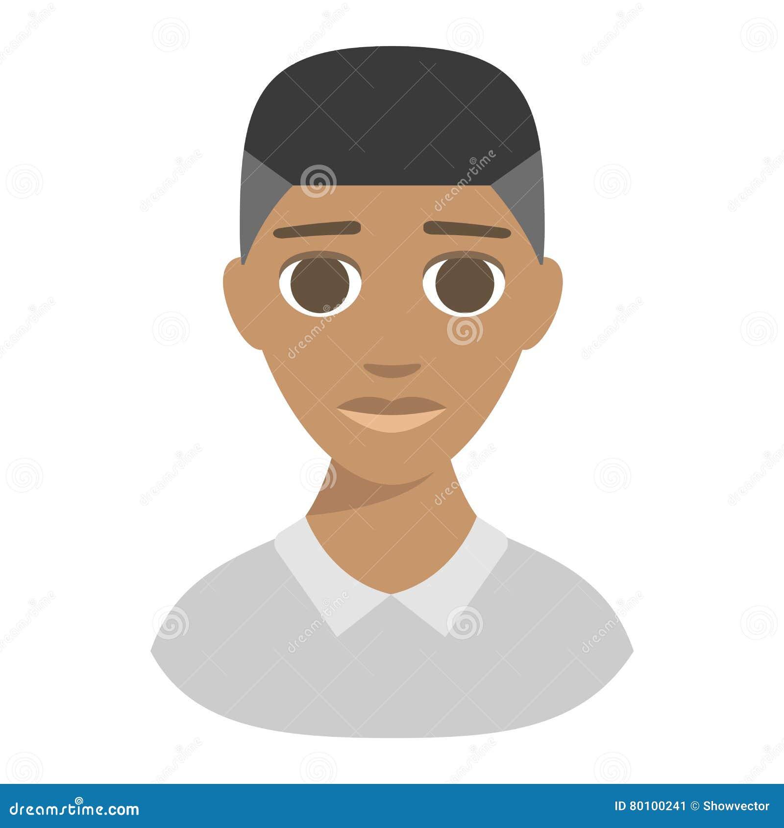 Ilustração afro-americana do vetor do menino