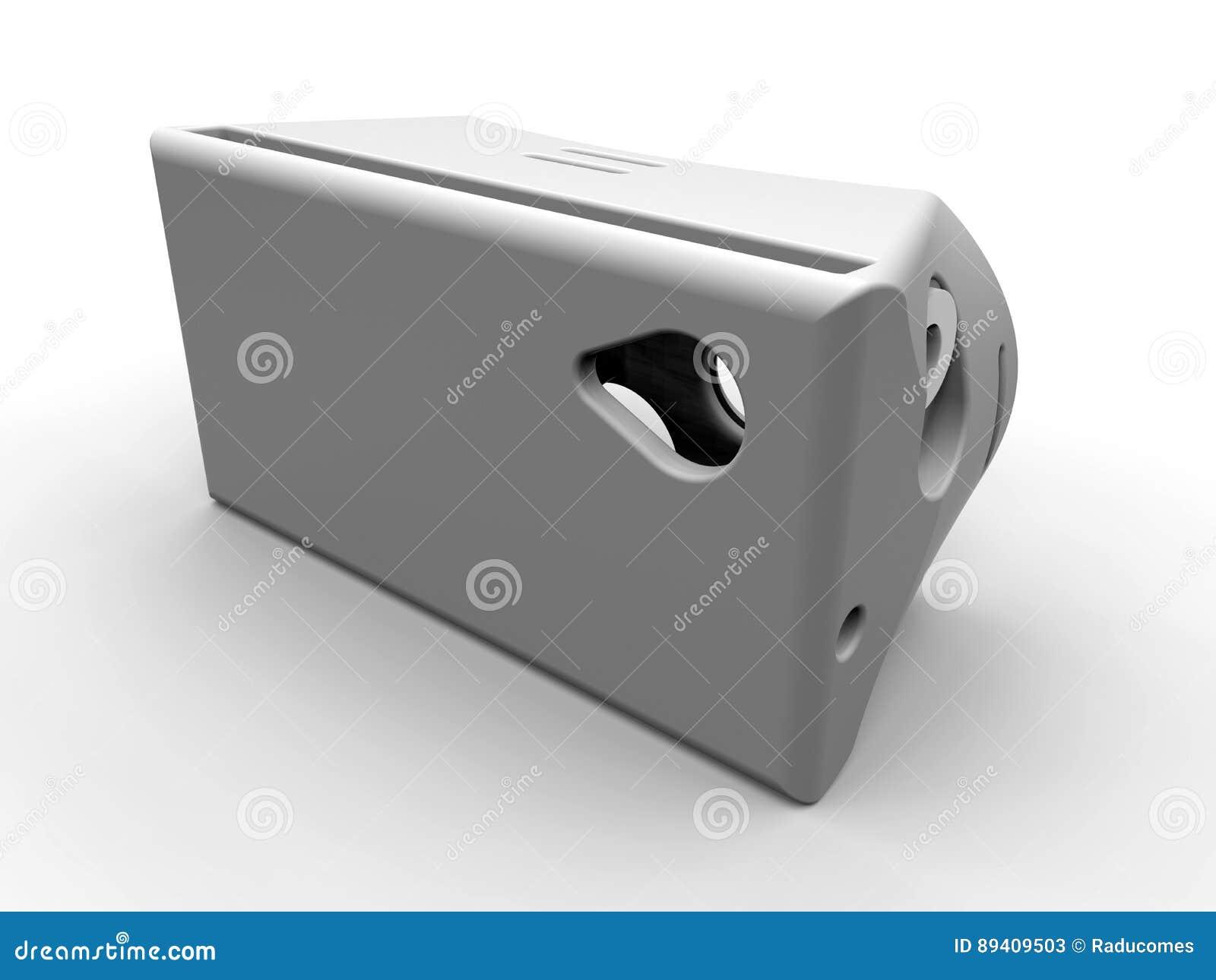 Ilustração ajustada da cabeça de VR