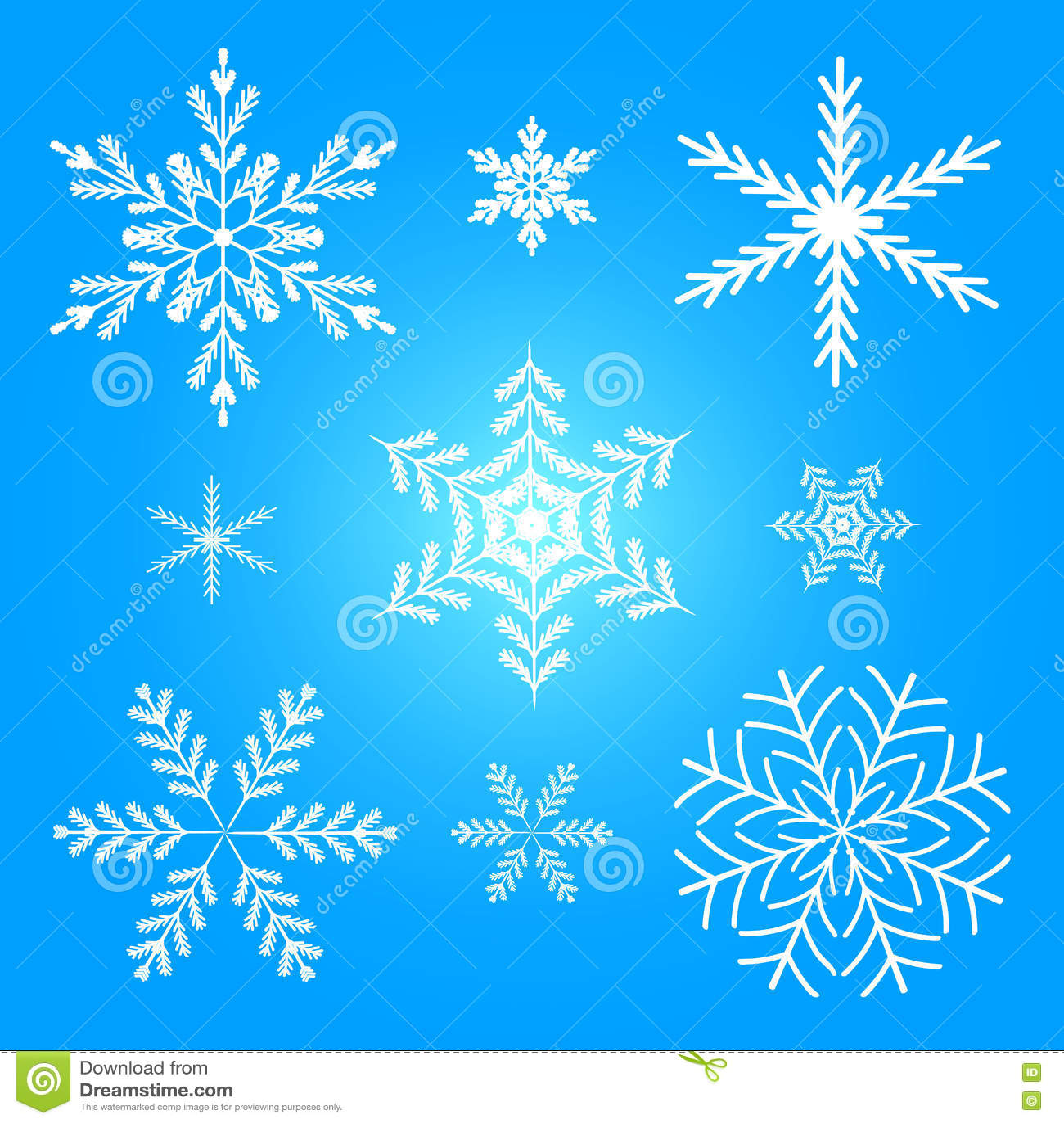 Ilustração ajustada do vetor do inverno do floco de neve