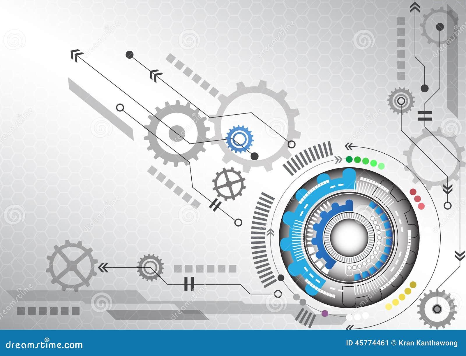 Ilustração alta do vetor do fundo do negócio da informática do circuito futurista abstrato