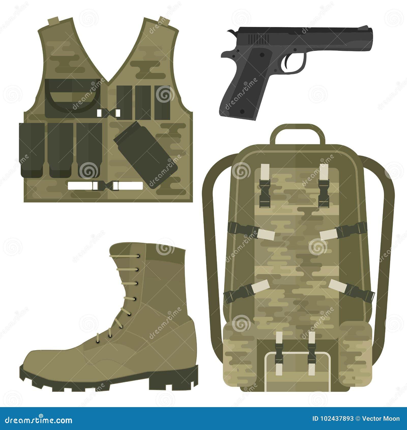 Ilustração americana do vetor do sinal da camuflagem da munição do lutador das forças militares da armadura das armas da arma