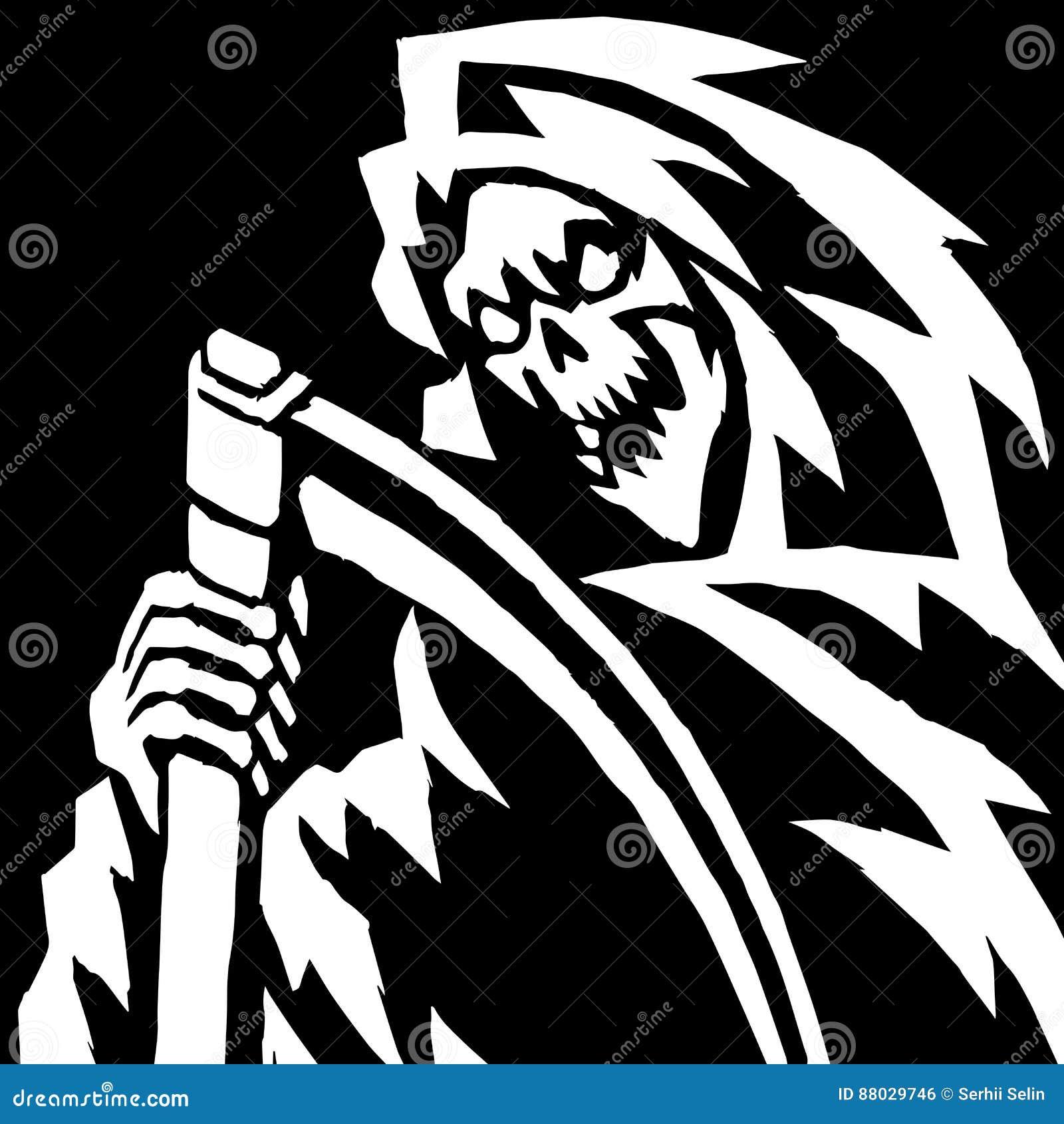 Ilustração assustador do Ceifador