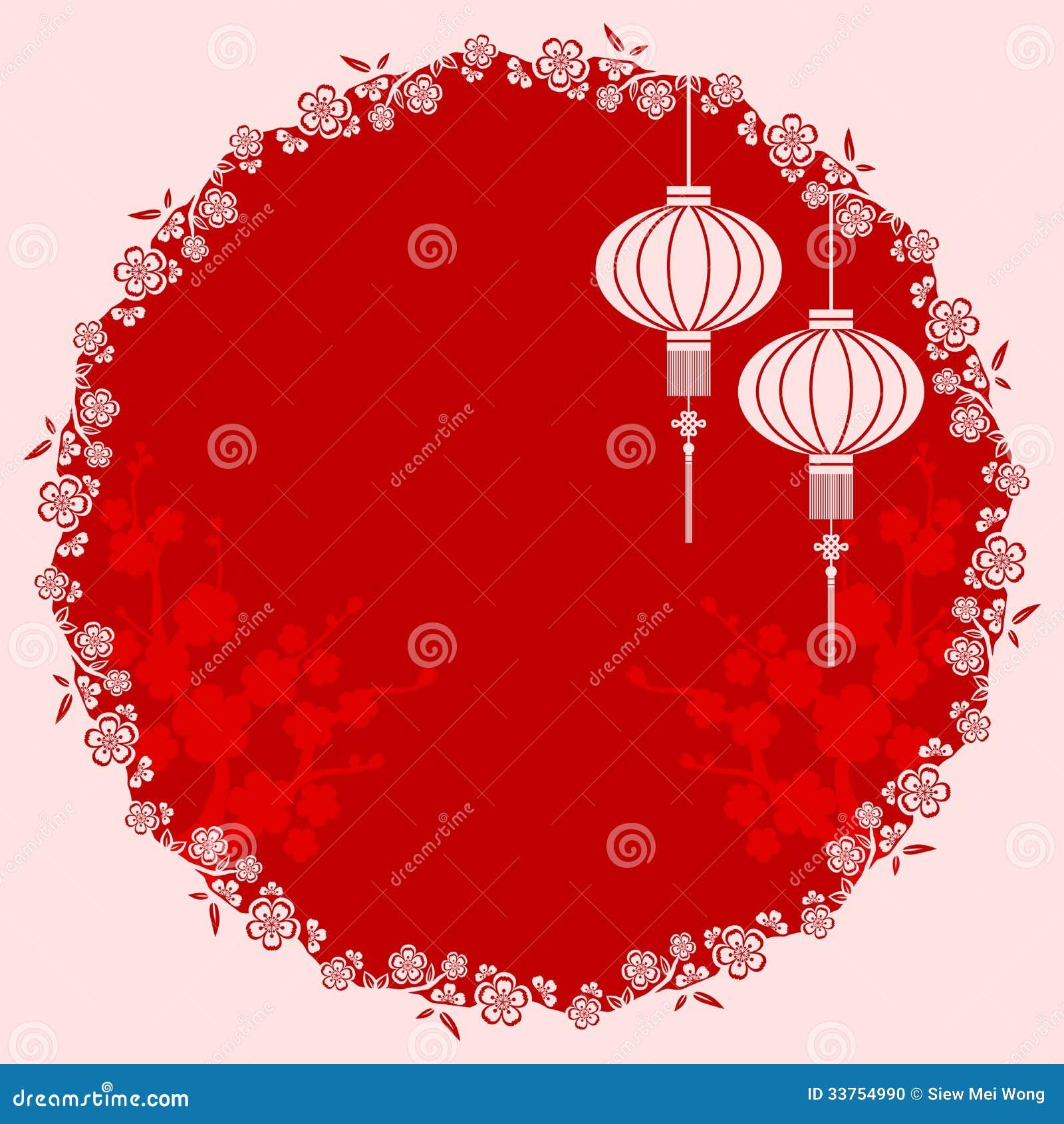 Ilustração chinesa oriental da lanterna