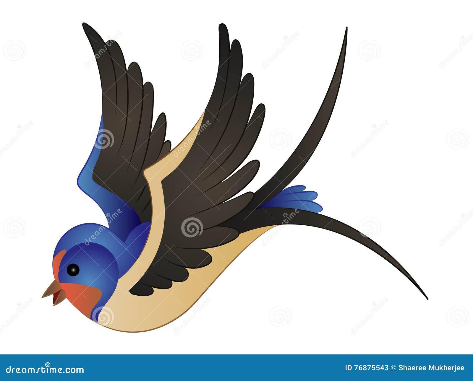 Ilustracao Clipart Do Vetor Do Passaro Da Andorinha Dos Desenhos
