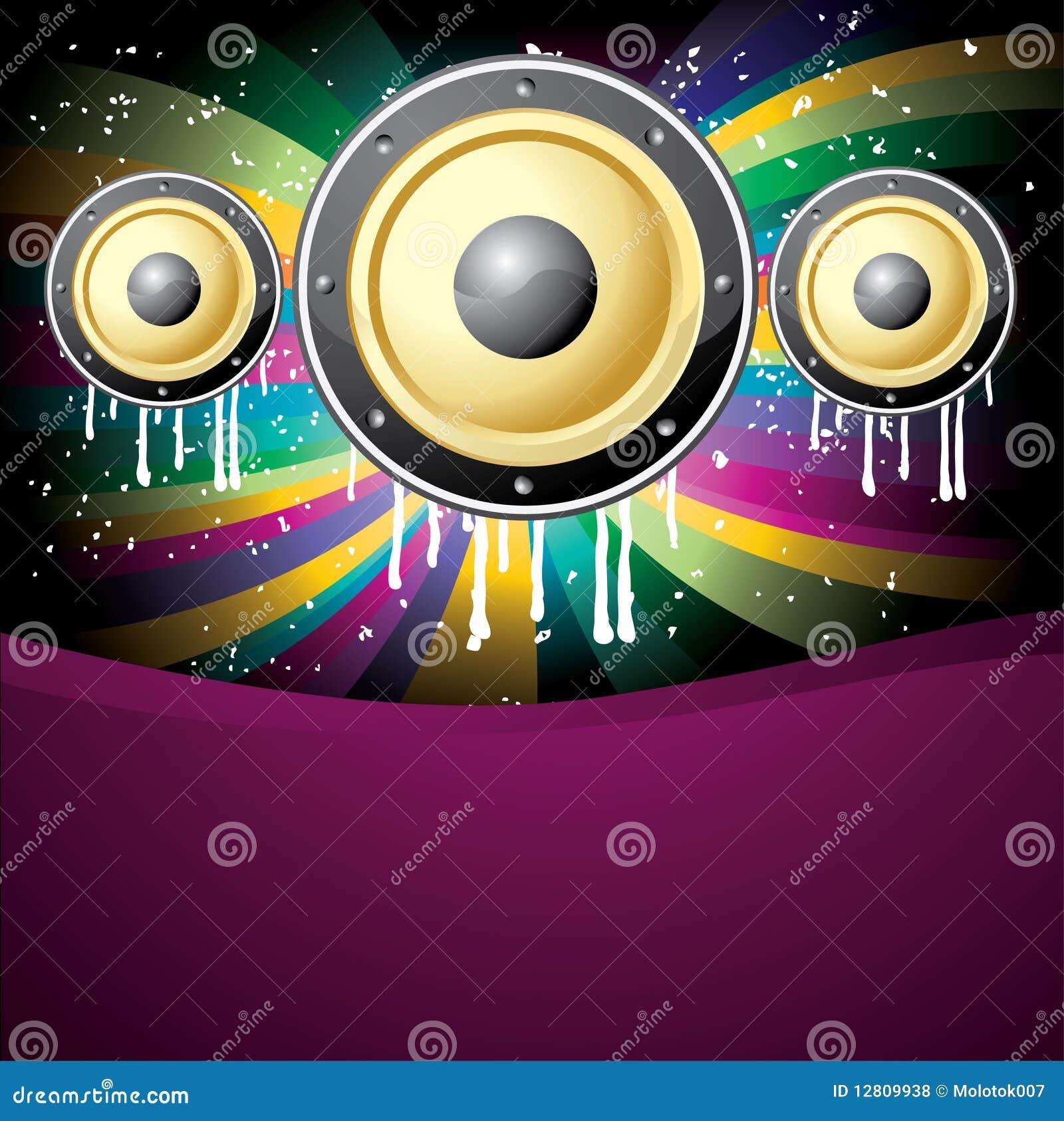 Ilustração colorida do disco da música