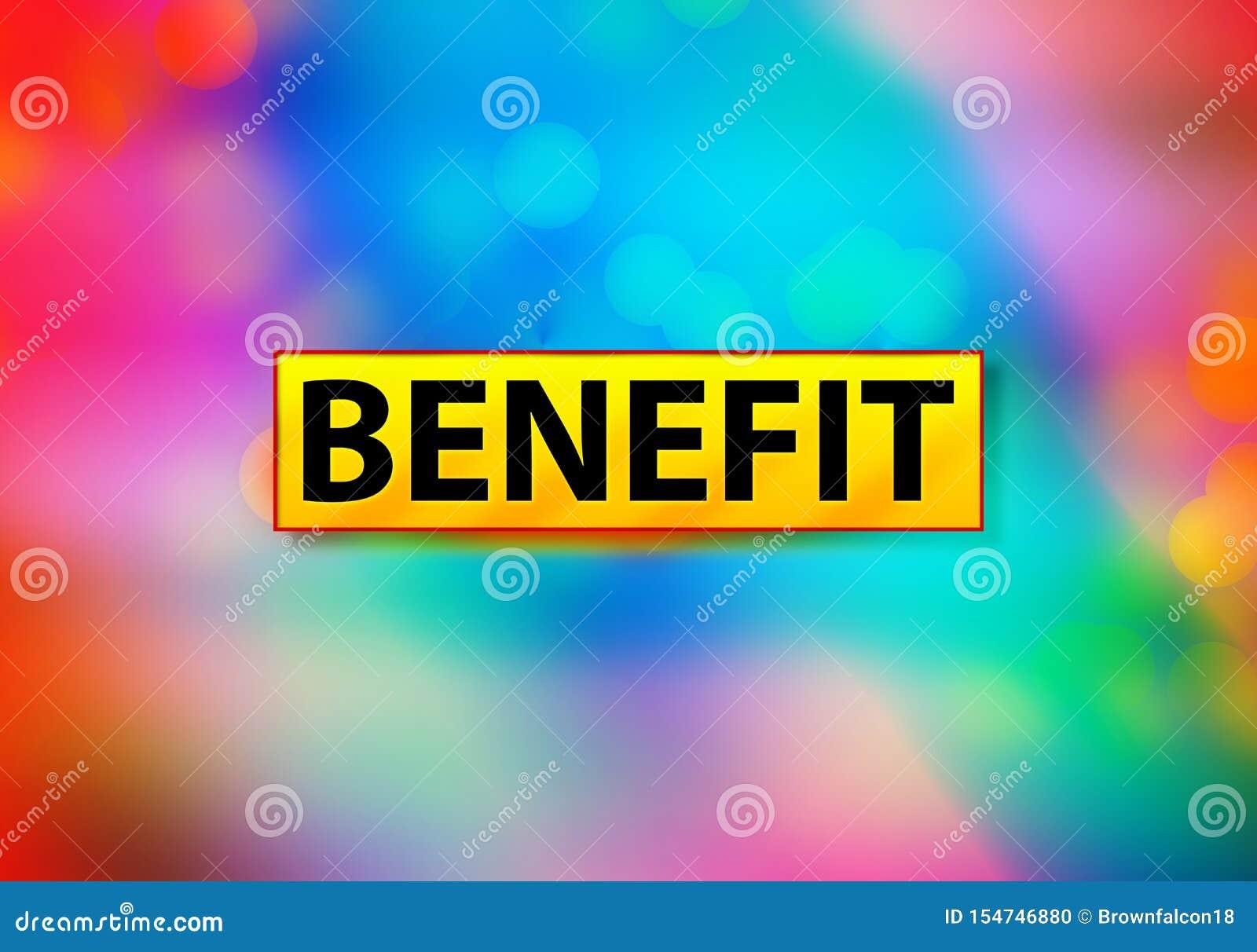 Ilustração colorida do projeto de Bokeh do fundo do sumário do benefício