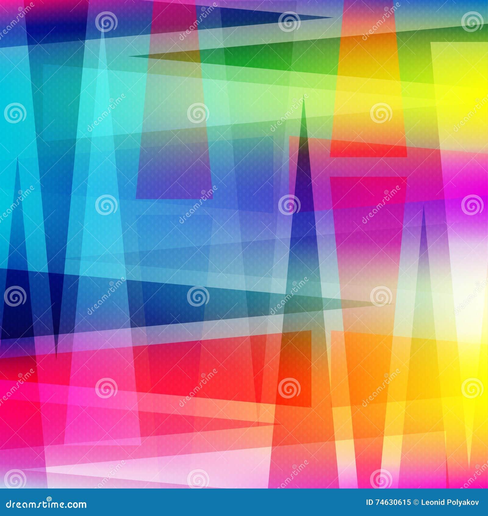 Ilustração colorida geométrica abstrata bonita do vetor do fundo