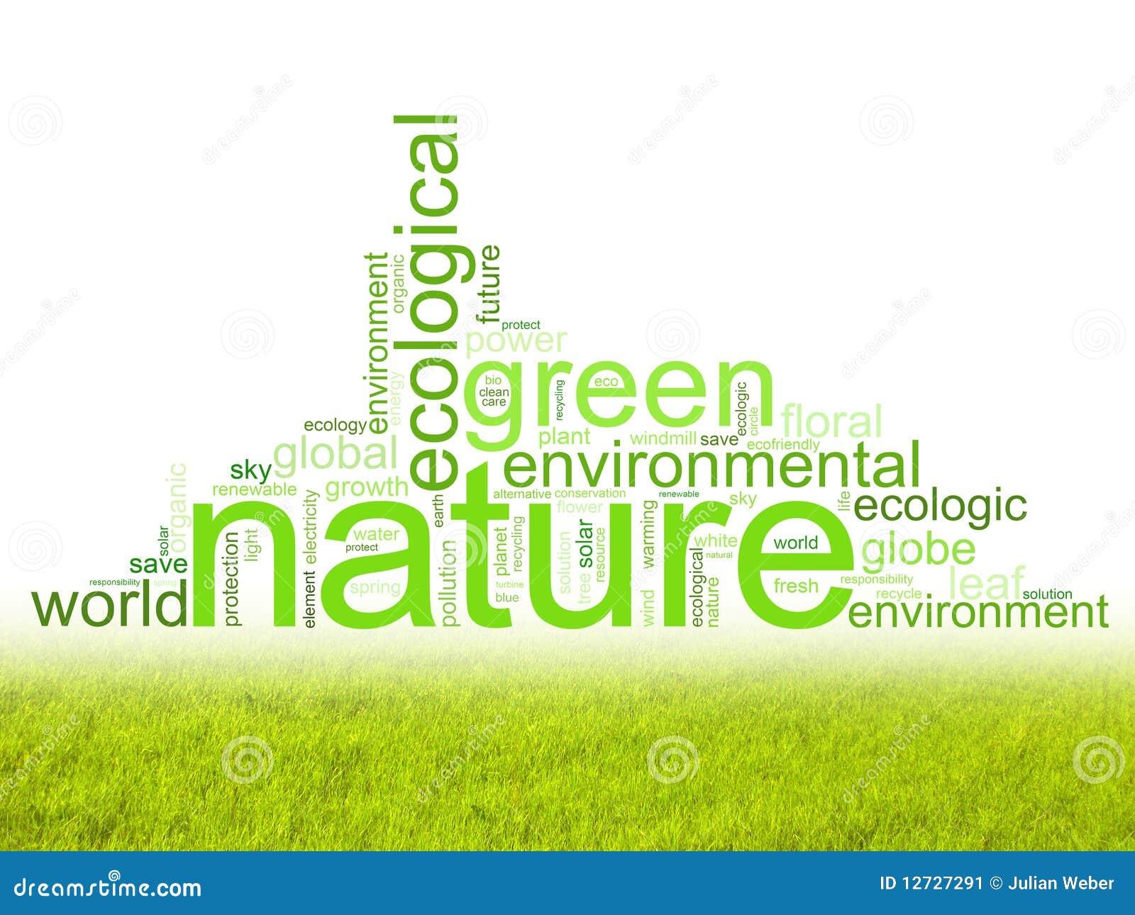 A ilustração com termos gosta do natur ou do ambiente