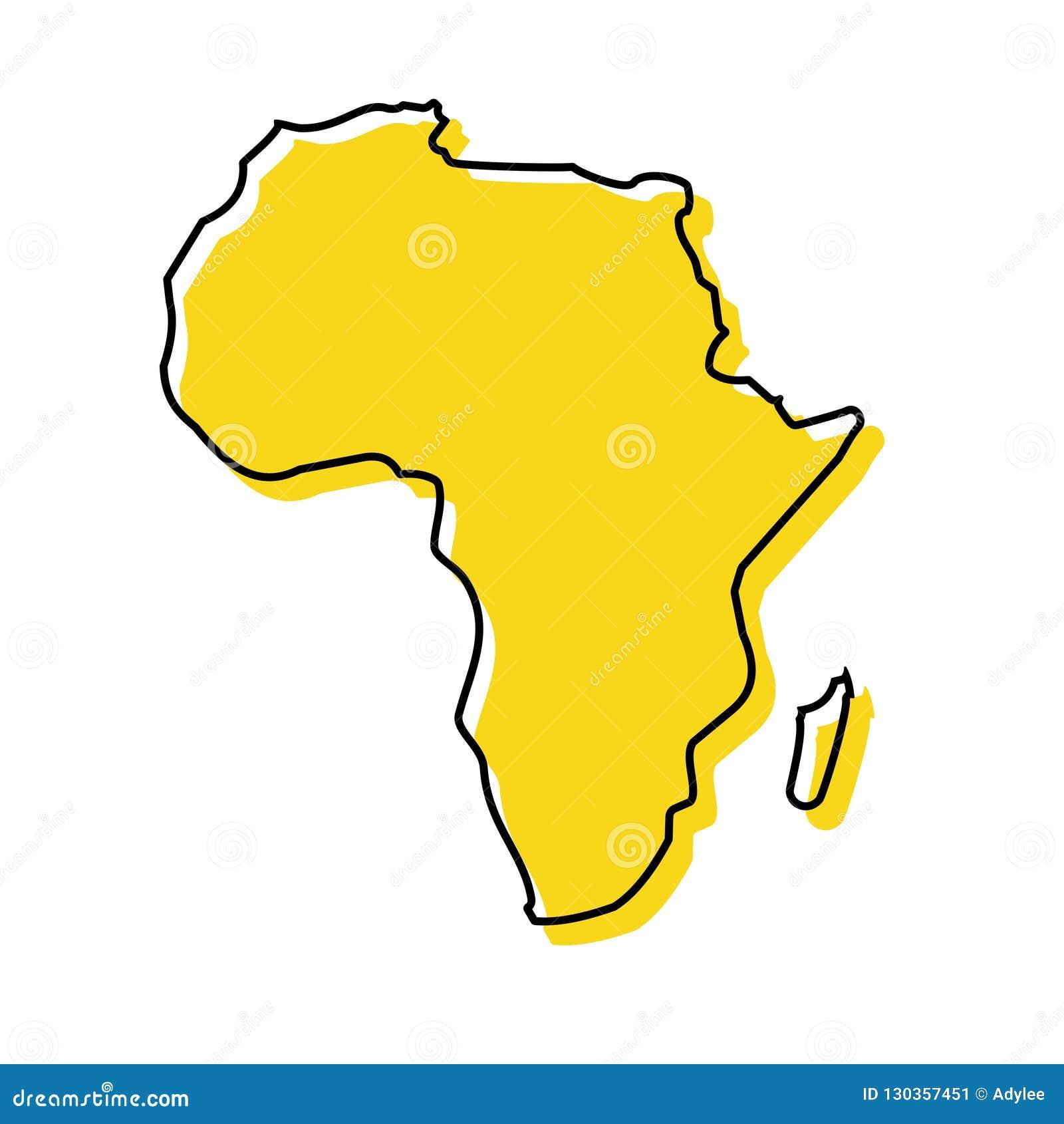 Ilustração conservada em estoque 1 do vetor do ícone do mapa de ÁFRICA do vetor