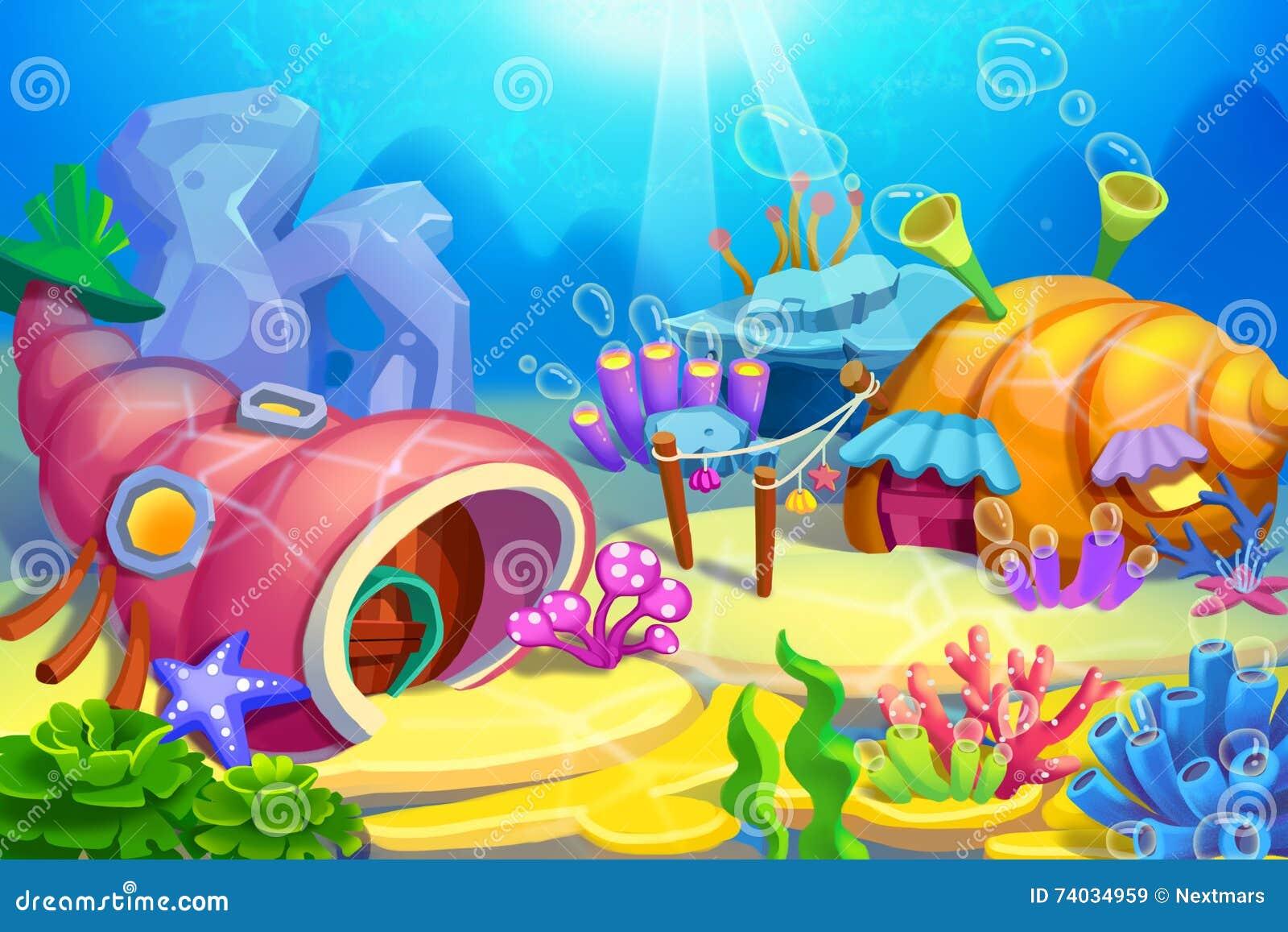 Ilustração criativa e arte inovativa: Casas subaquáticas