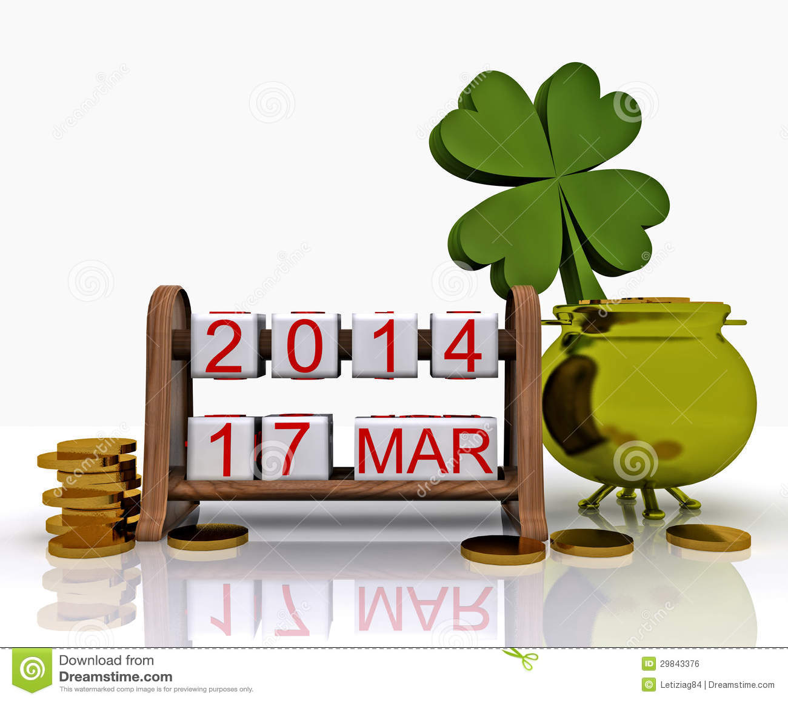 O dia de St Patrick - 3D
