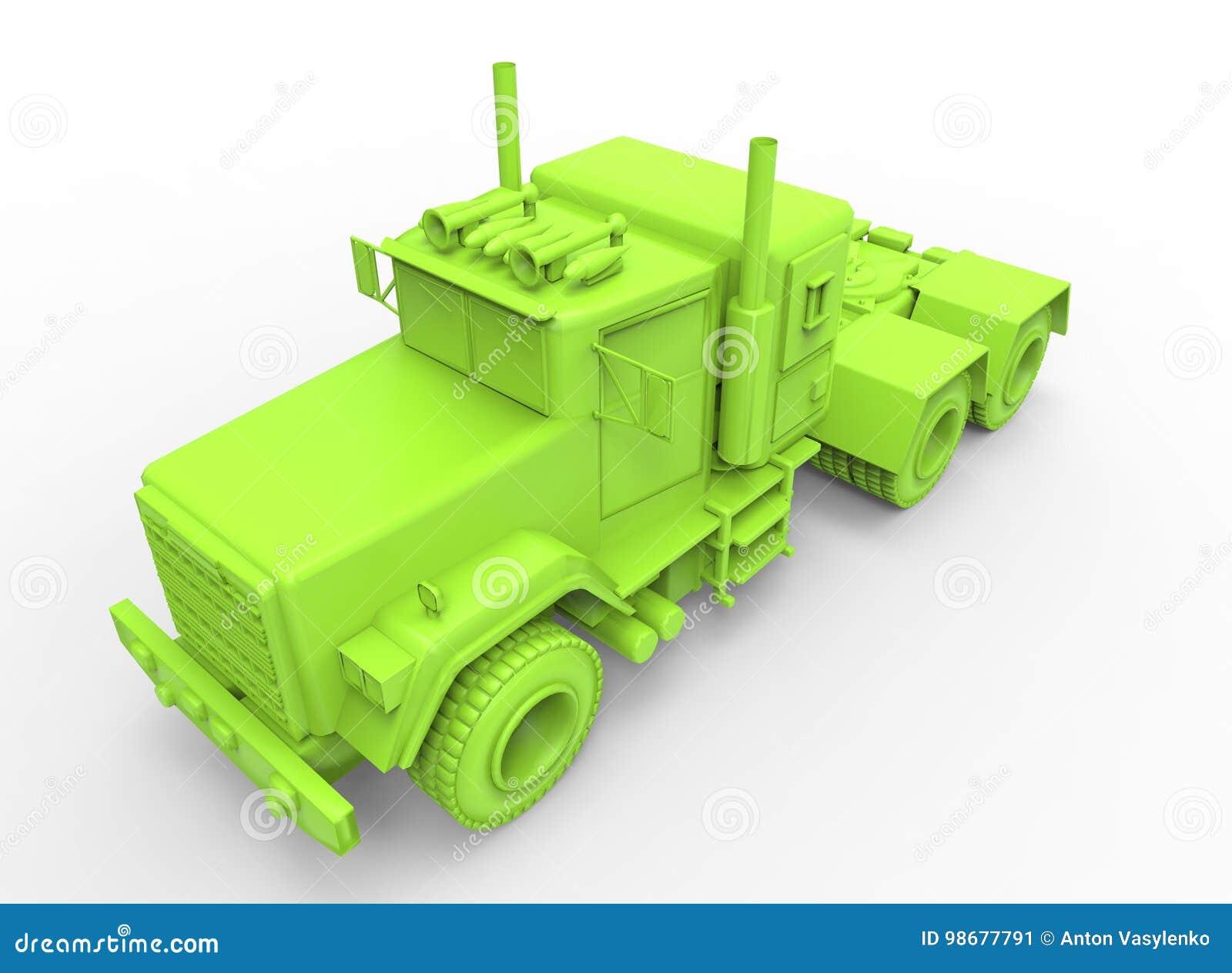 Ilustração 3d do caminhão genérico