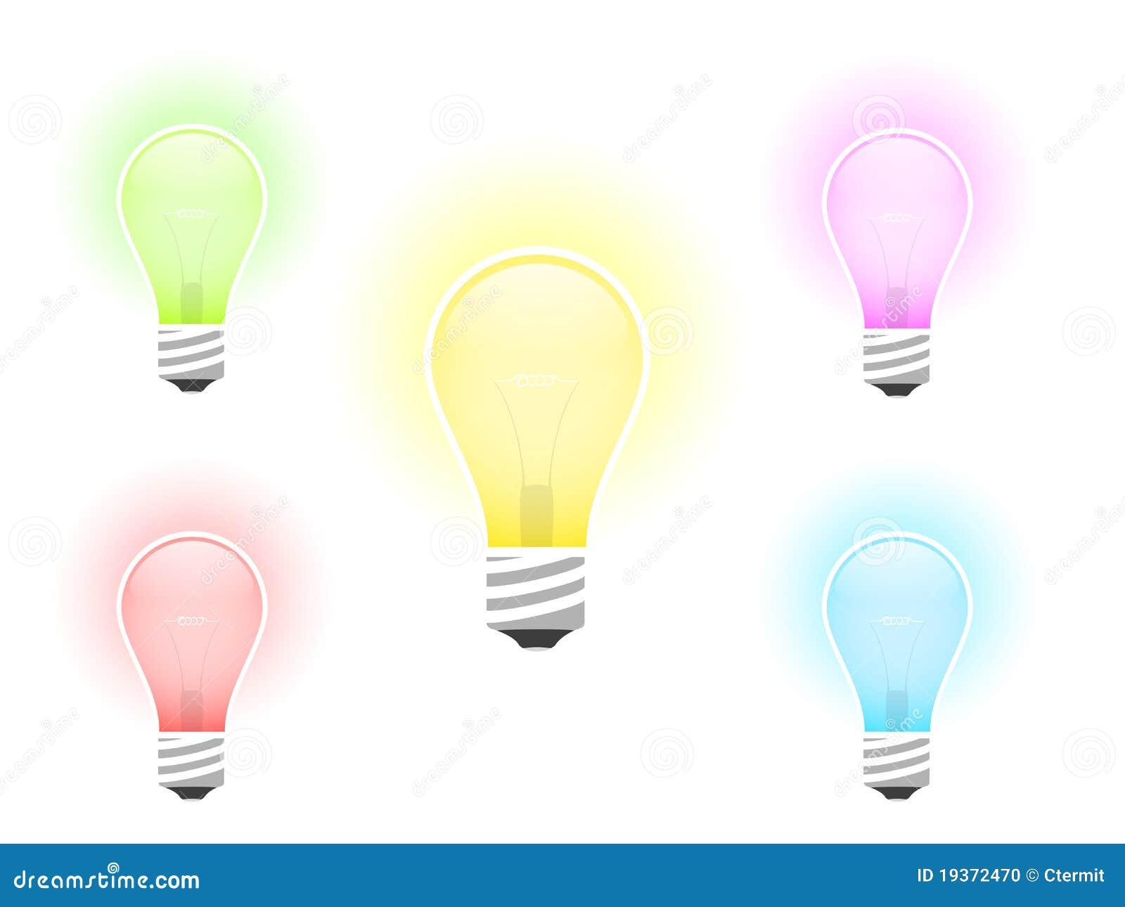 Ilustração da ampola colorido